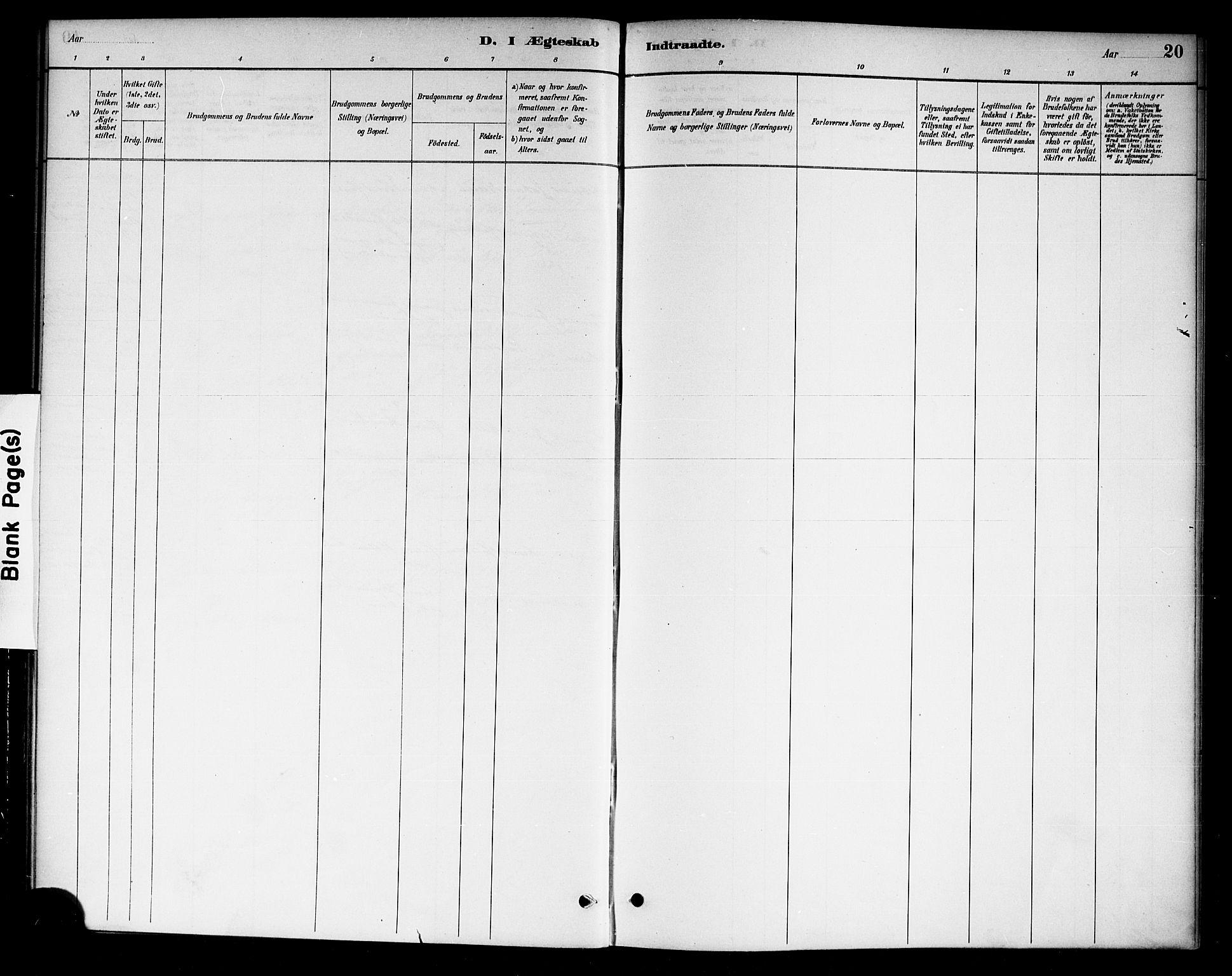 SAKO, Drangedal kirkebøker, F/Fa/L0011: Ministerialbok nr. 11 /1, 1885-1894, s. 20