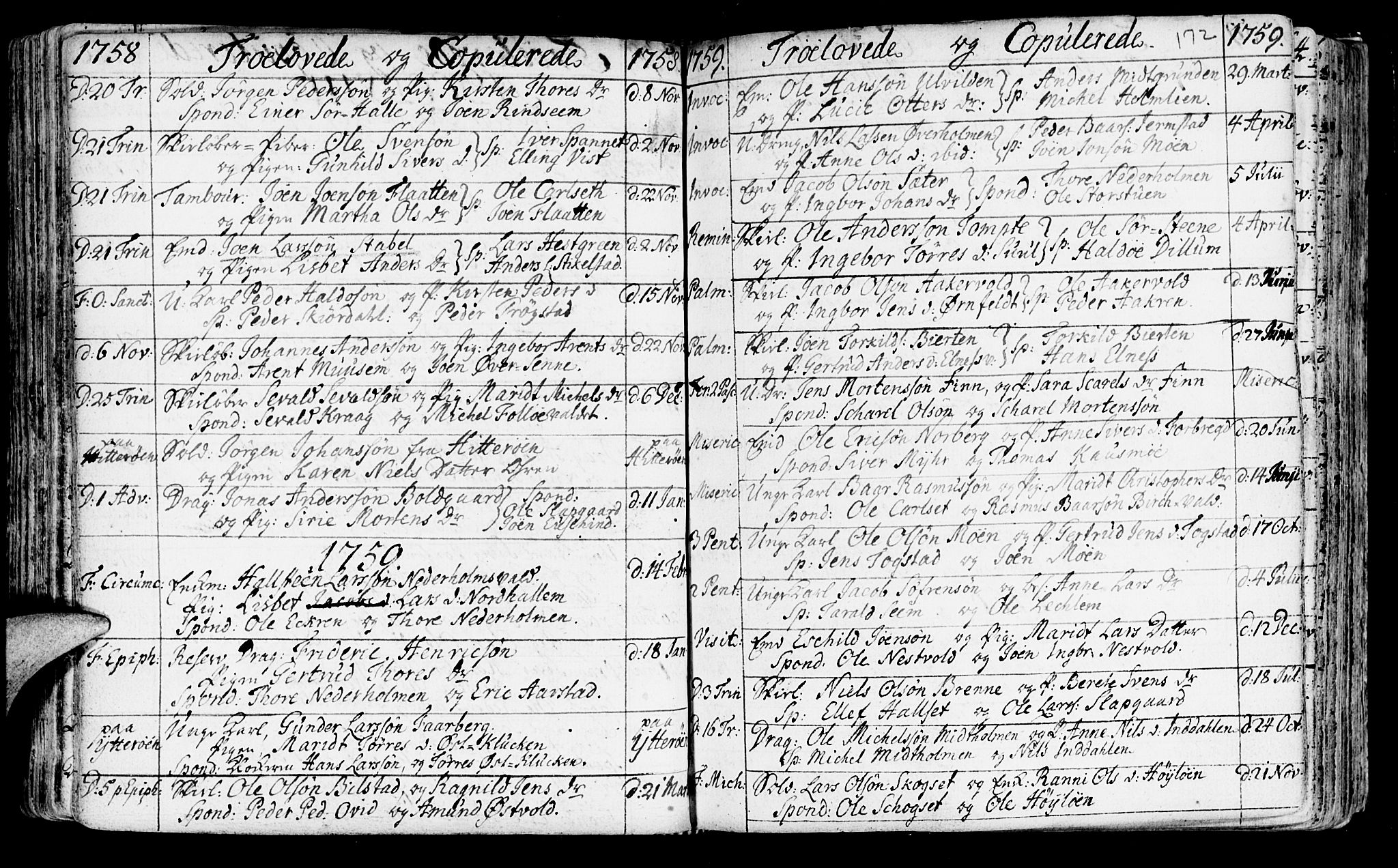 SAT, Ministerialprotokoller, klokkerbøker og fødselsregistre - Nord-Trøndelag, 723/L0231: Ministerialbok nr. 723A02, 1748-1780, s. 172
