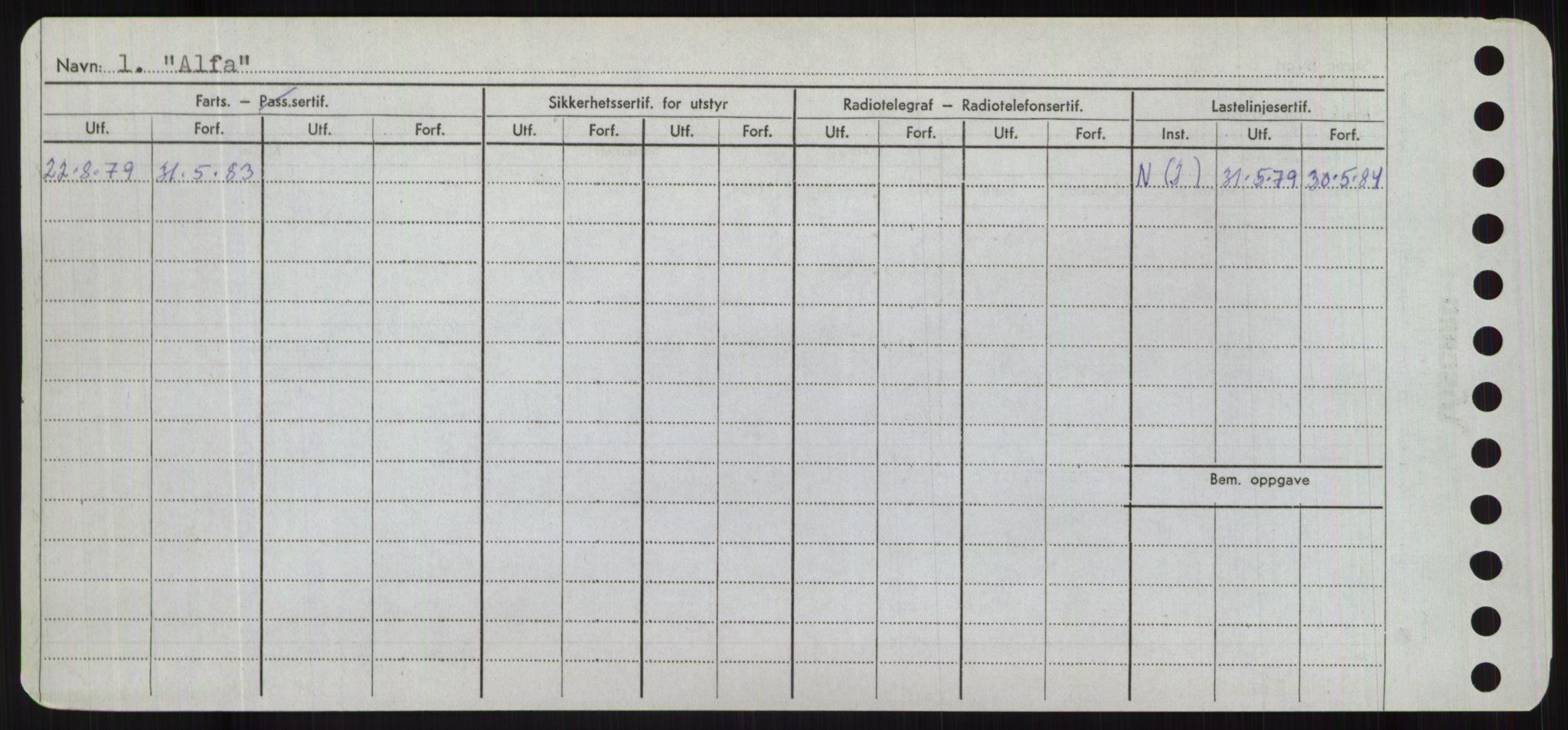 RA, Sjøfartsdirektoratet med forløpere, Skipsmålingen, H/Hd/L0001: Fartøy, A-Anv, s. 316