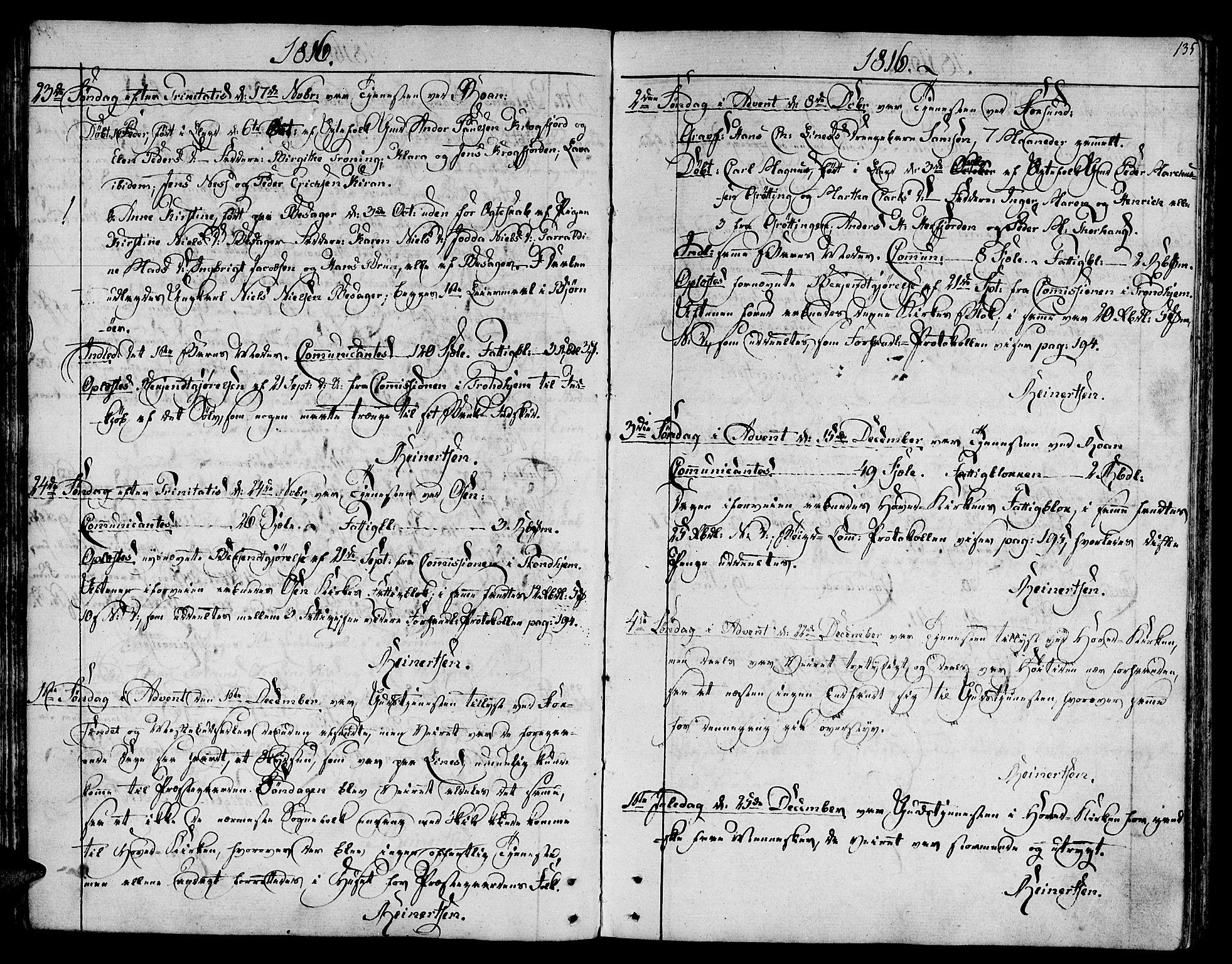 SAT, Ministerialprotokoller, klokkerbøker og fødselsregistre - Sør-Trøndelag, 657/L0701: Ministerialbok nr. 657A02, 1802-1831, s. 135