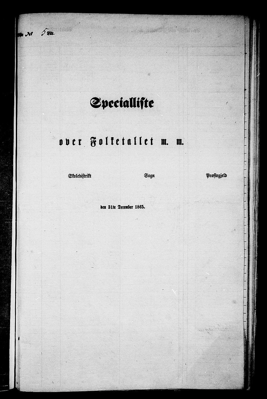 RA, Folketelling 1865 for 1563P Sunndal prestegjeld, 1865, s. 65