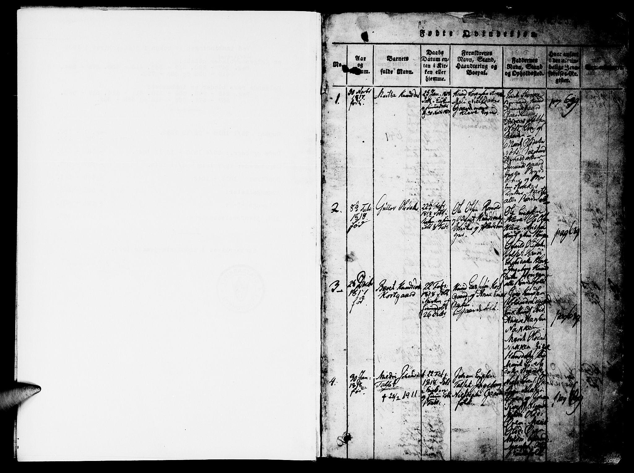 SAT, Ministerialprotokoller, klokkerbøker og fødselsregistre - Møre og Romsdal, 557/L0679: Ministerialbok nr. 557A01, 1818-1843, s. 0-1