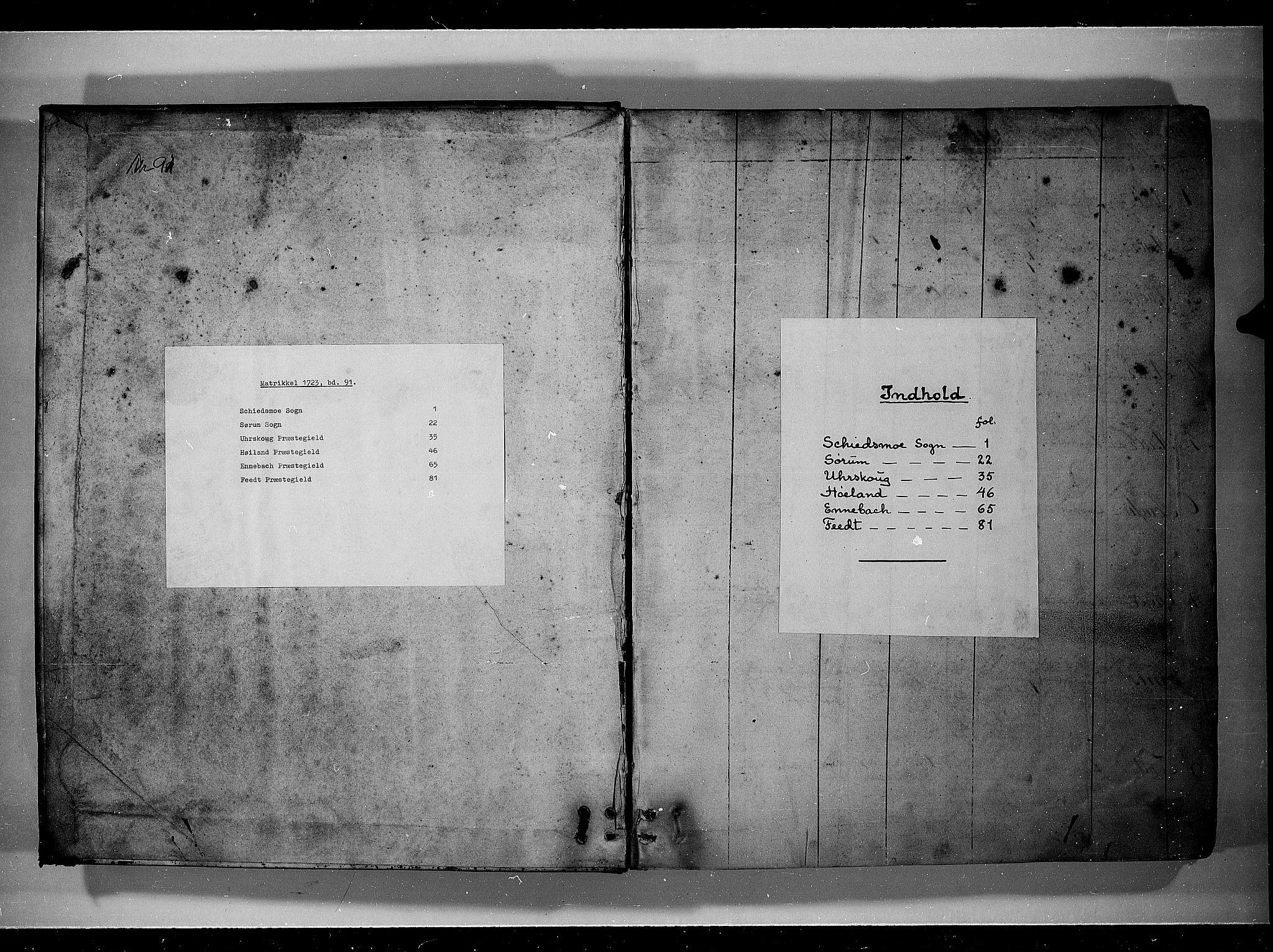 RA, Rentekammeret inntil 1814, Realistisk ordnet avdeling, N/Nb/Nbf/L0091: Nedre Romerike eksaminasjonsprotokoll, 1723, s. upaginert