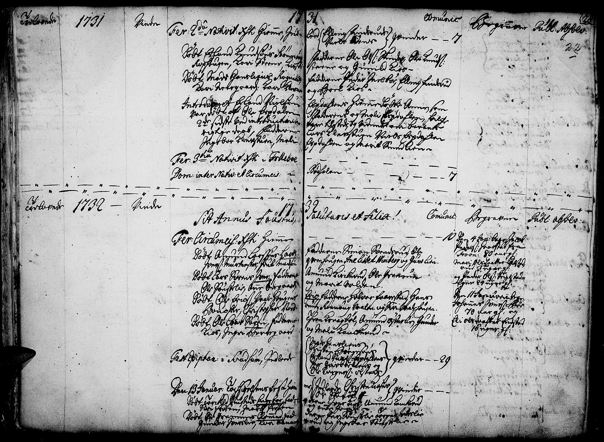 SAH, Gausdal prestekontor, Ministerialbok nr. 2, 1729-1757, s. 22