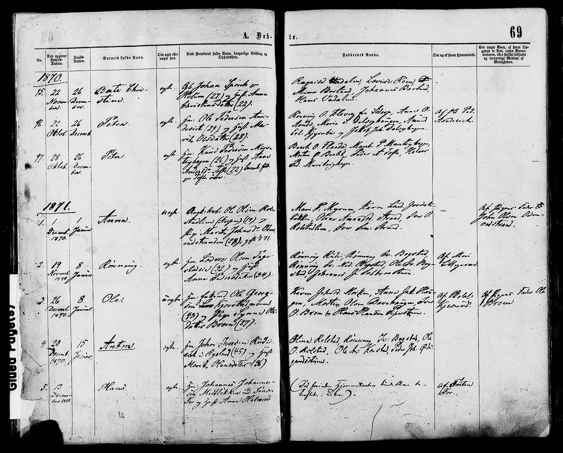 SAH, Sør-Fron prestekontor, H/Ha/Haa/L0002: Ministerialbok nr. 2, 1864-1880, s. 69