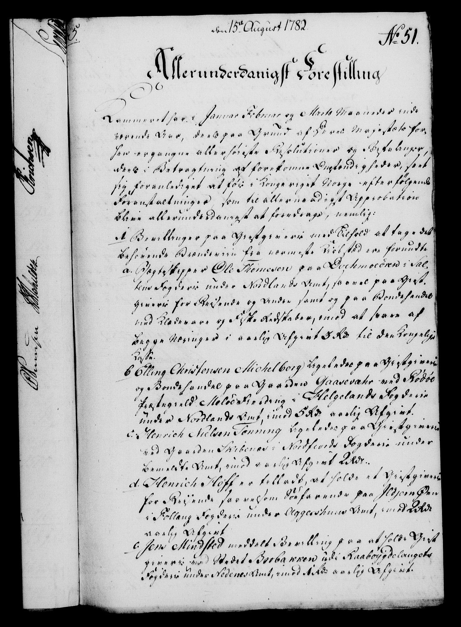 RA, Rentekammeret, Kammerkanselliet, G/Gf/Gfa/L0064: Norsk relasjons- og resolusjonsprotokoll (merket RK 52.64), 1782, s. 373