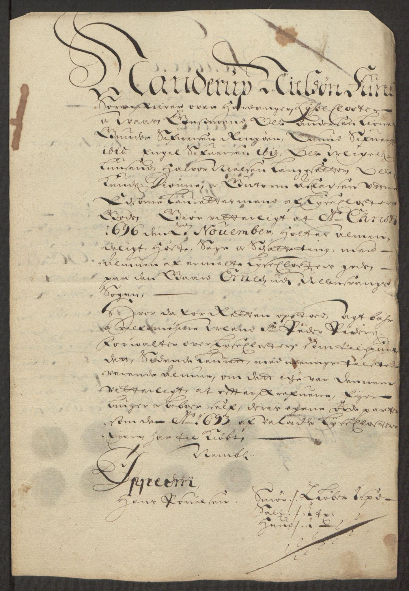 RA, Rentekammeret inntil 1814, Reviderte regnskaper, Fogderegnskap, R50/L3159: Fogderegnskap Lyse kloster, 1691-1709, s. 54