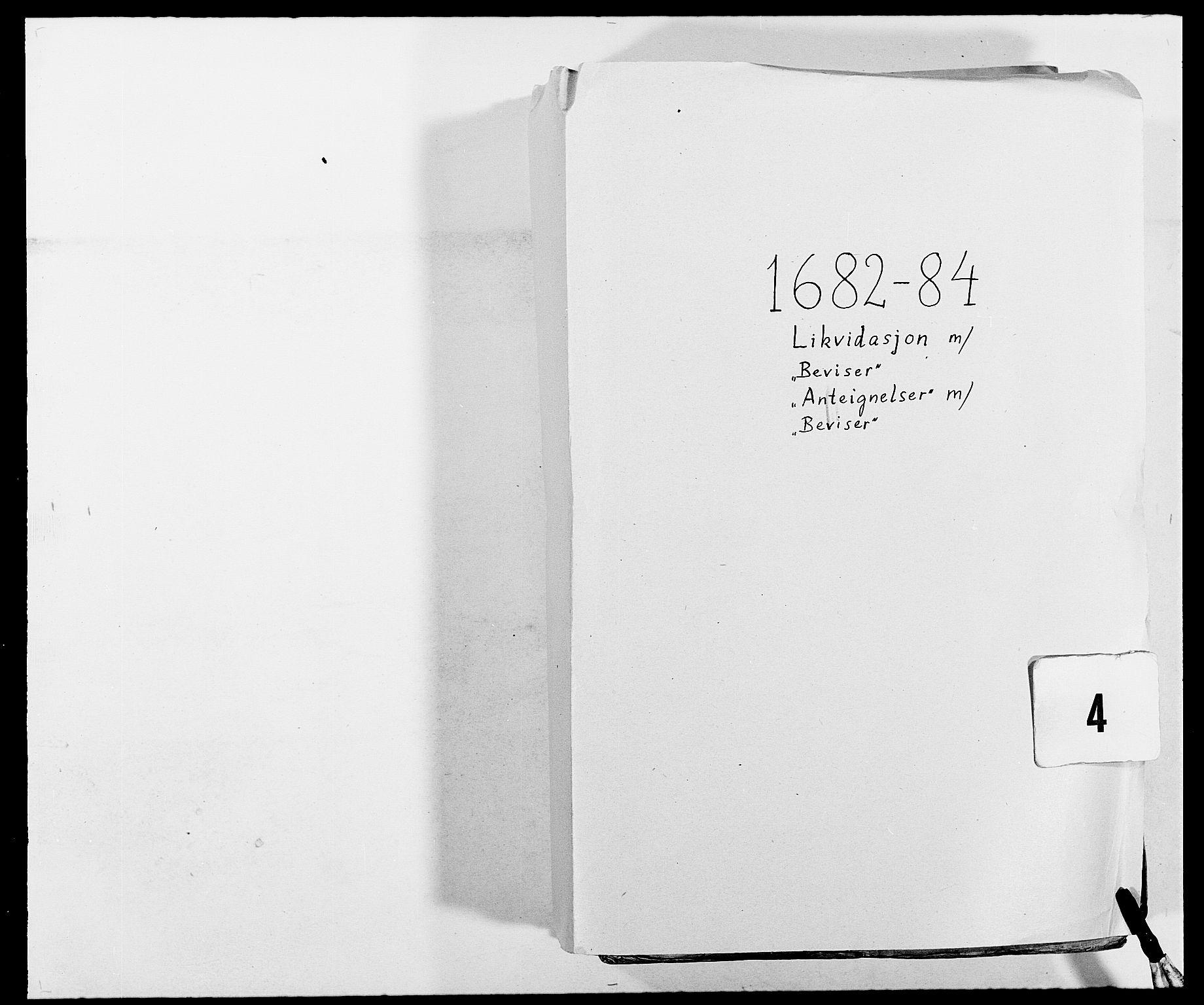 RA, Rentekammeret inntil 1814, Reviderte regnskaper, Fogderegnskap, R02/L0104: Fogderegnskap Moss og Verne kloster, 1682-1684, s. 1