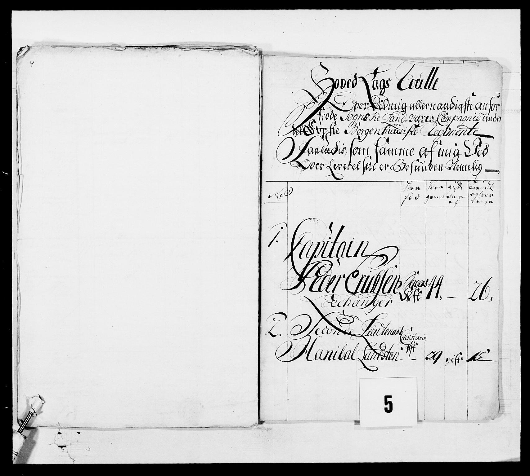 RA, Kommanderende general (KG I) med Det norske krigsdirektorium, E/Ea/L0517: 1. Bergenhusiske regiment, 1742-1756, s. 23