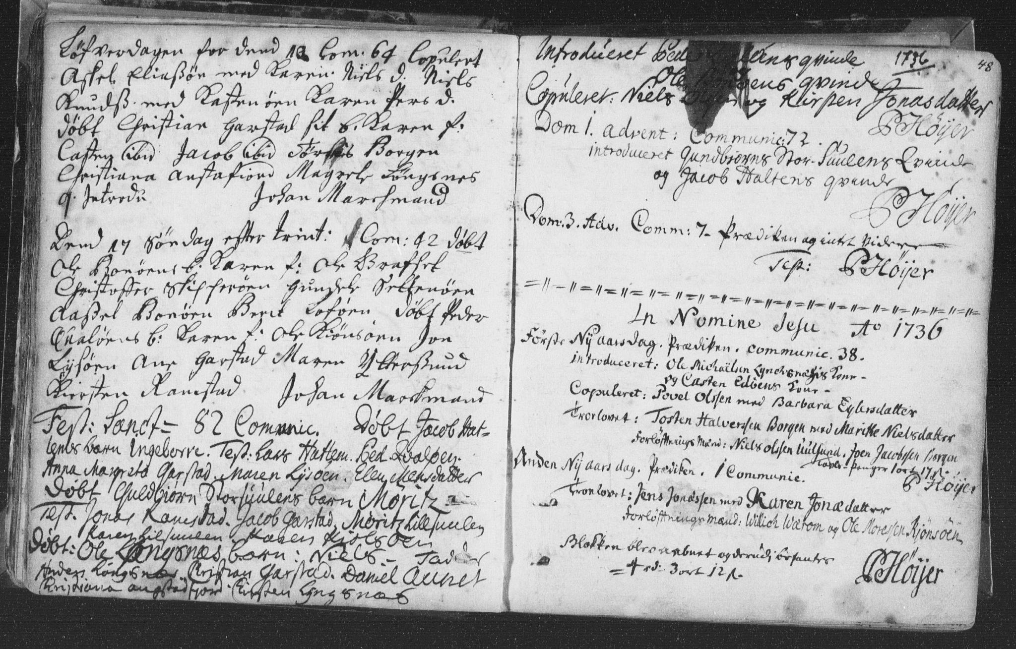 SAT, Ministerialprotokoller, klokkerbøker og fødselsregistre - Nord-Trøndelag, 786/L0685: Ministerialbok nr. 786A01, 1710-1798, s. 48