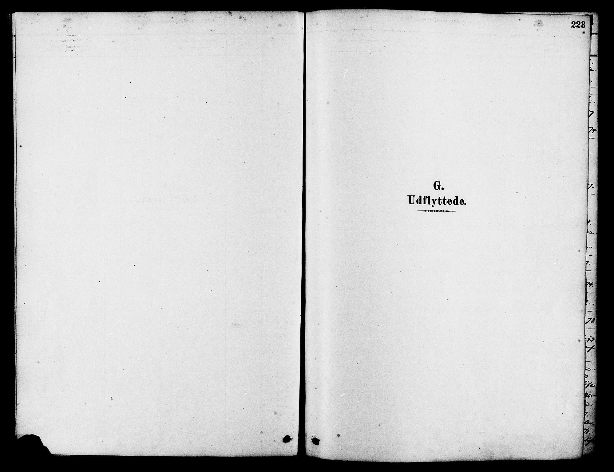 SAST, Tysvær sokneprestkontor, H/Ha/Haa/L0006: Ministerialbok nr. A 6, 1878-1896, s. 223