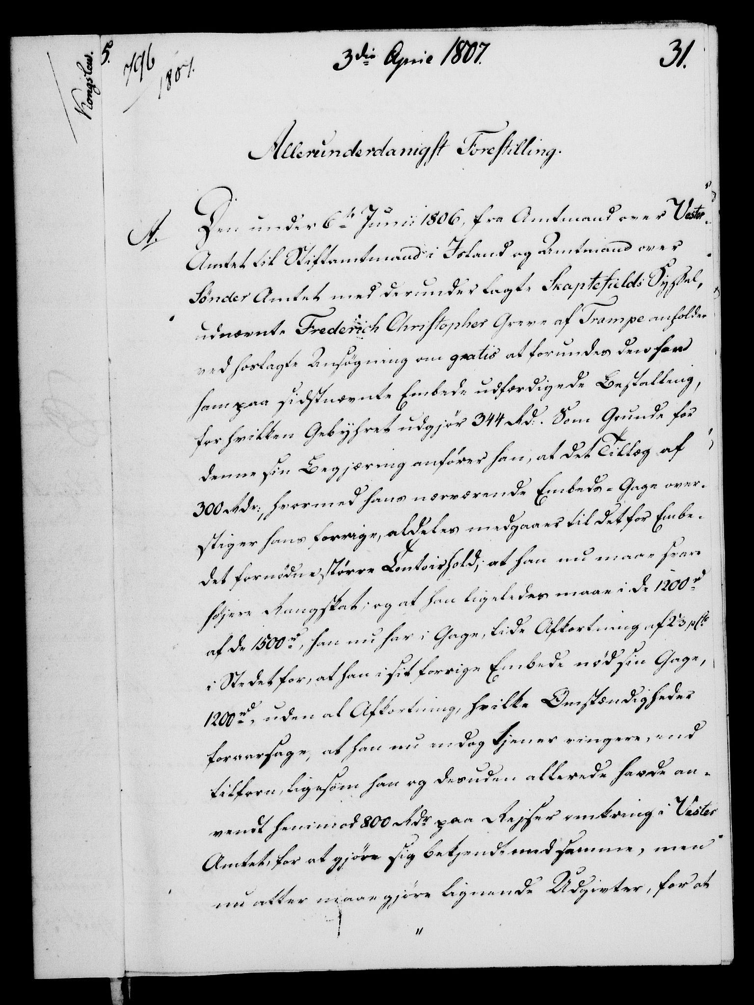 RA, Rentekammeret, Kammerkanselliet, G/Gf/Gfa/L0089: Norsk relasjons- og resolusjonsprotokoll (merket RK 52.89), 1807, s. 212