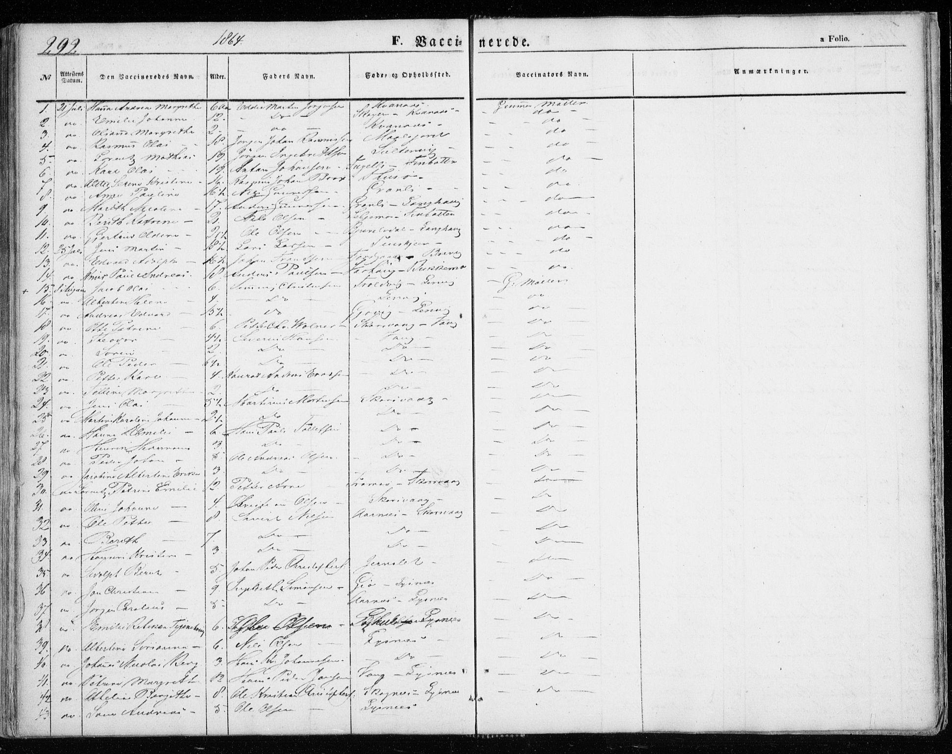 SATØ, Lenvik sokneprestembete, H/Ha: Ministerialbok nr. 7, 1855-1865, s. 292