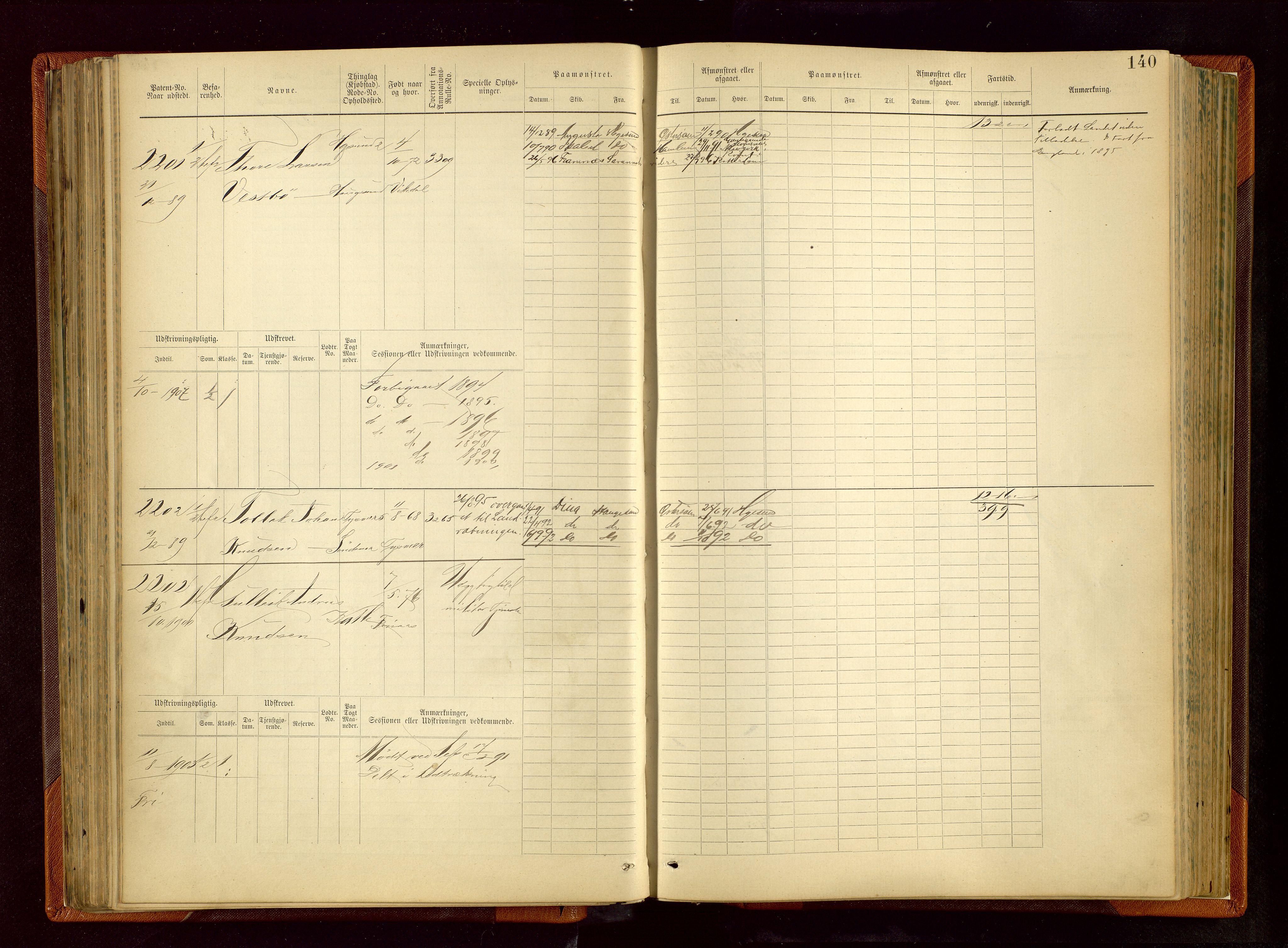 SAST, Haugesund sjømannskontor, F/Fb/Fbb/L0006: Sjøfartsrulle Haugesund krets nr.1923-2884, 1868-1948, s. 140