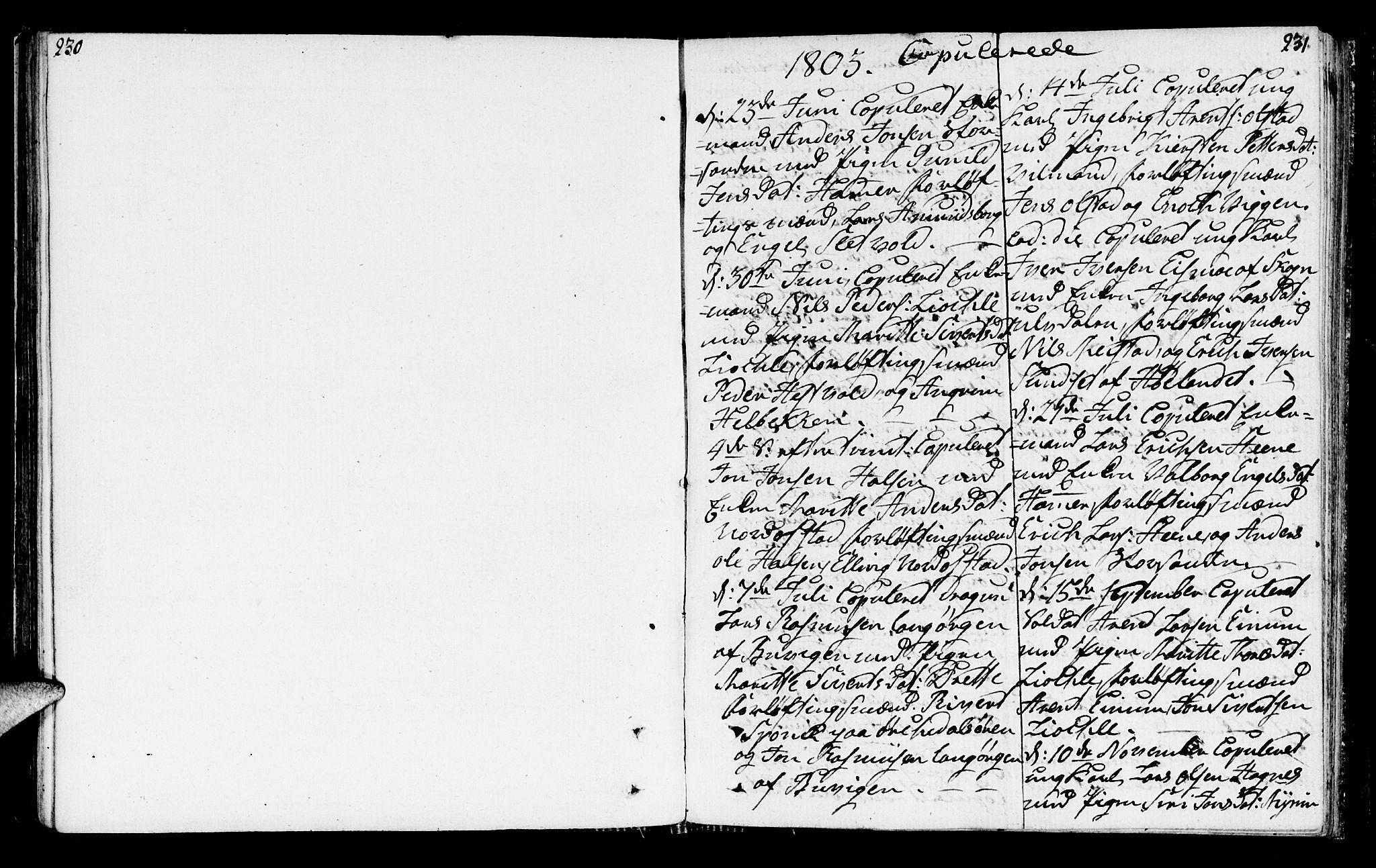 SAT, Ministerialprotokoller, klokkerbøker og fødselsregistre - Sør-Trøndelag, 665/L0769: Ministerialbok nr. 665A04, 1803-1816, s. 230-231