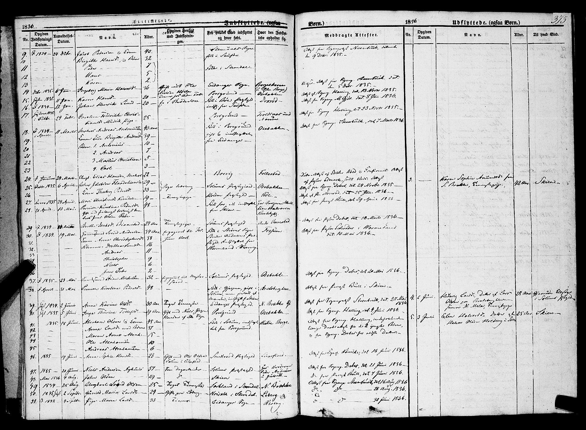 SAKO, Gjerpen kirkebøker, F/Fa/L0007b: Ministerialbok nr. 7B, 1834-1857, s. 373