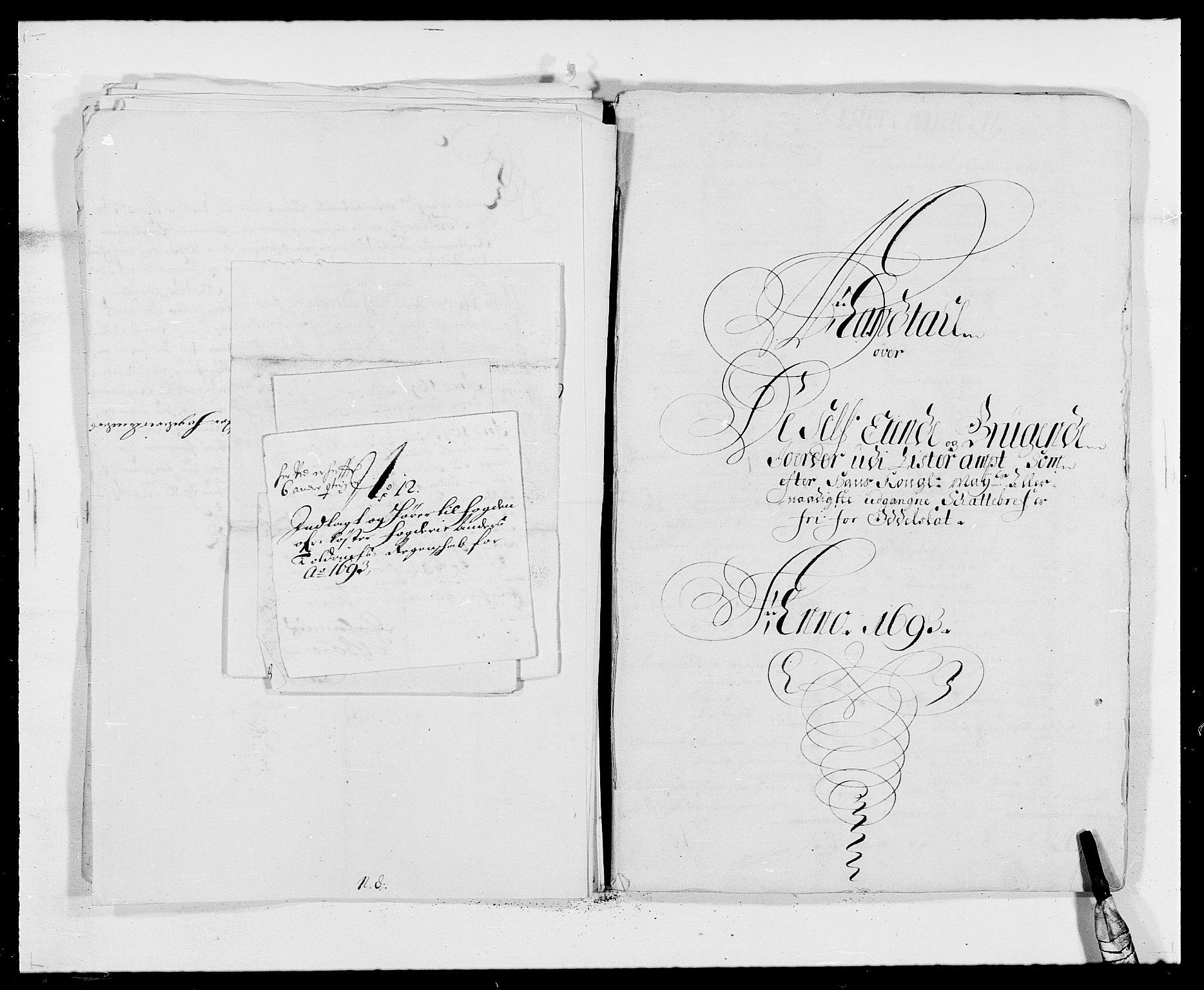 RA, Rentekammeret inntil 1814, Reviderte regnskaper, Fogderegnskap, R41/L2536: Fogderegnskap Lista, 1690-1693, s. 470