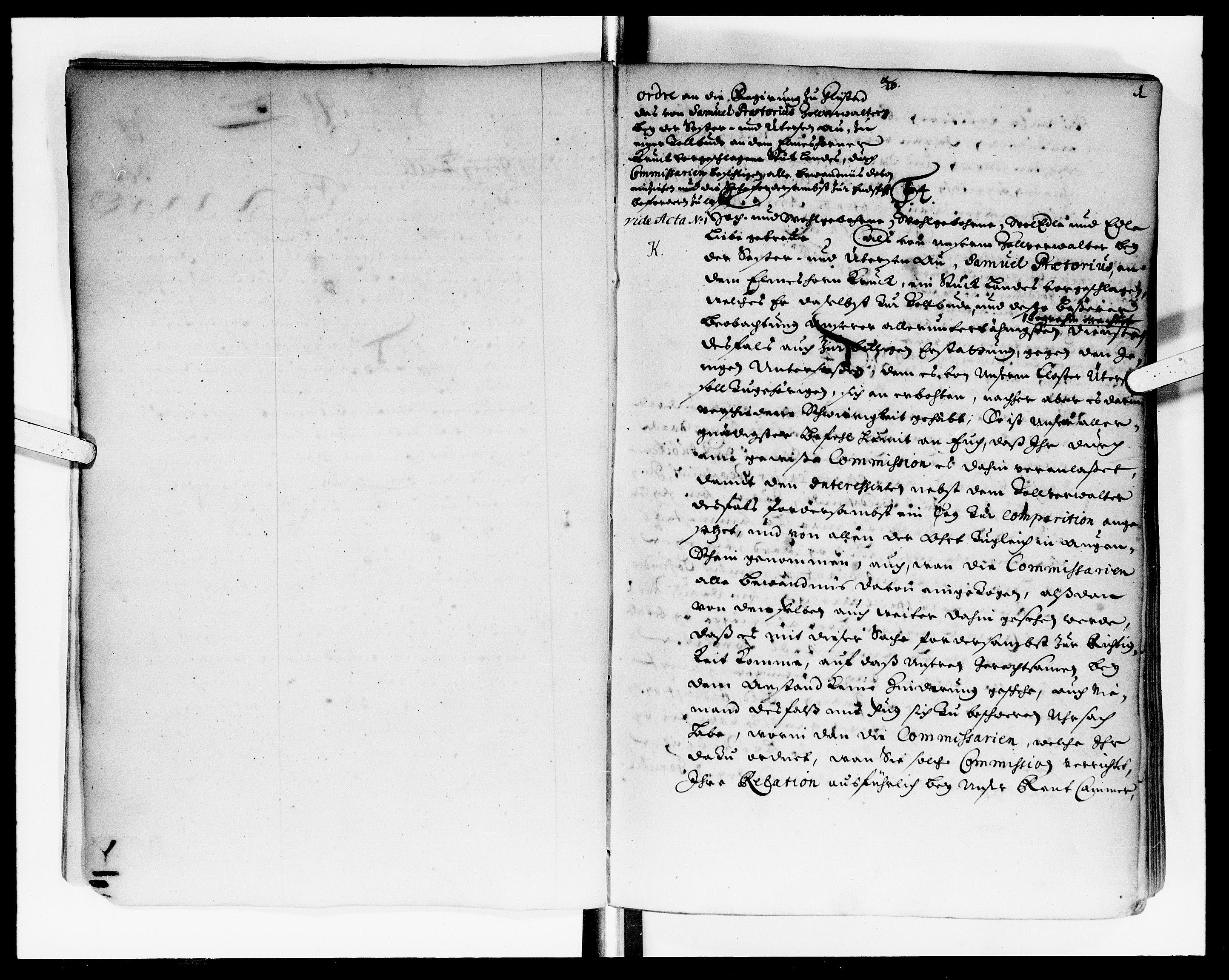 DRA, Rentekammeret Skatkammeret, Danske Sekretariat (1660-1679) / Rentekammeret Danske Afdeling, Kammerkancelliet (1679-1771), -/2212-14: Ekspeditionsprotokol, 1699-1700, s. 1