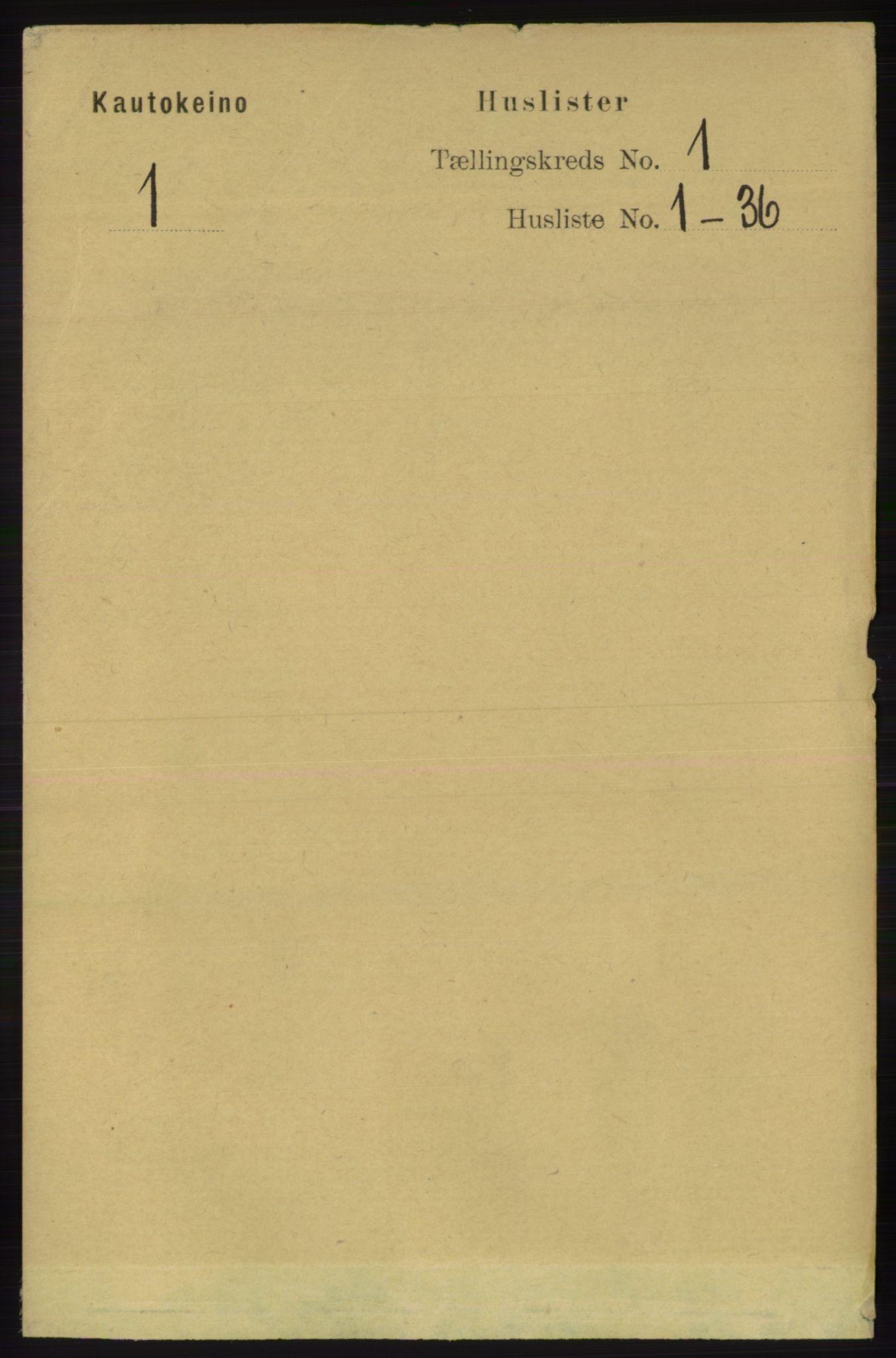 RA, Folketelling 1891 for 2011 Kautokeino herred, 1891, s. 13