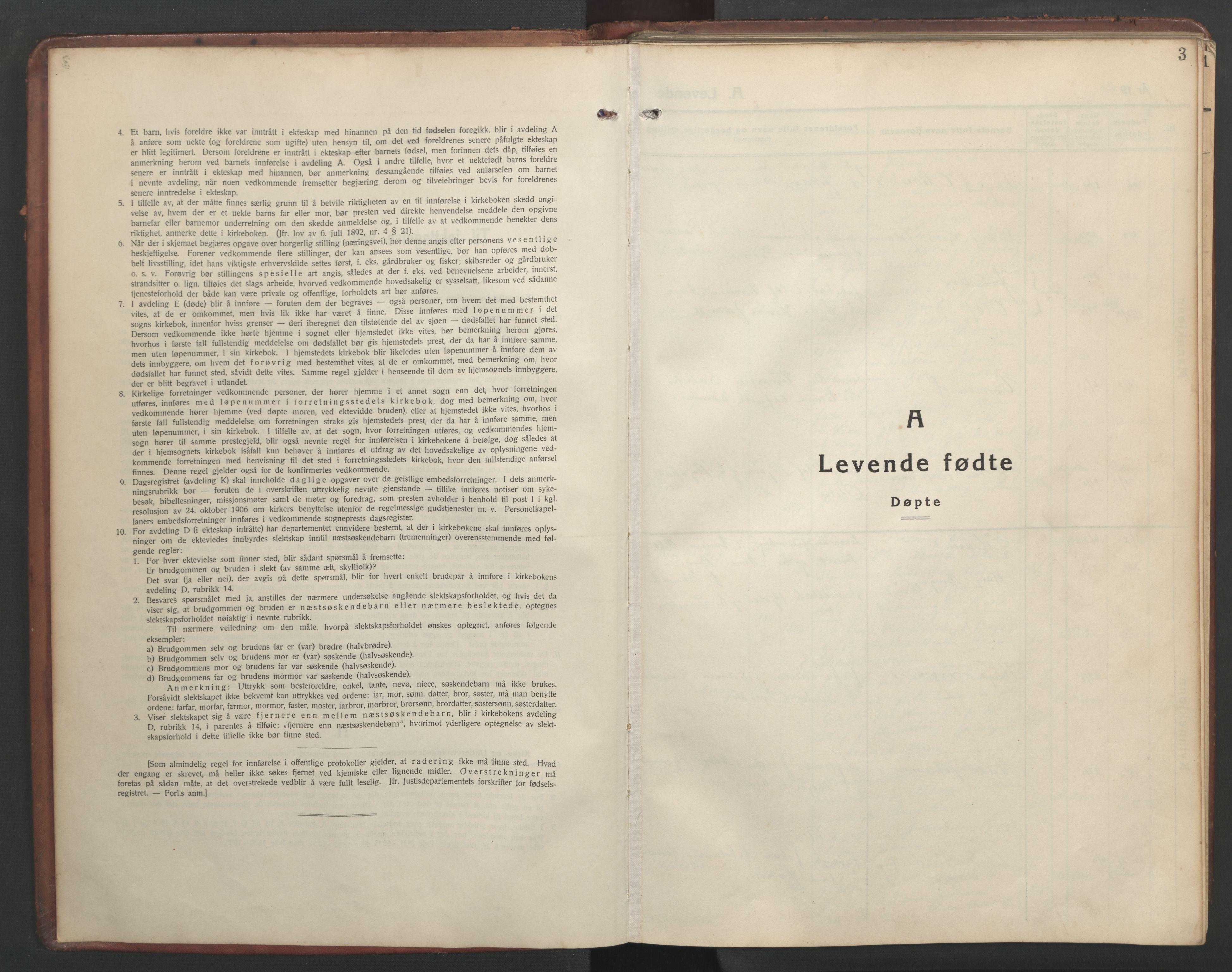 SAT, Ministerialprotokoller, klokkerbøker og fødselsregistre - Sør-Trøndelag, 634/L0544: Klokkerbok nr. 634C06, 1927-1948, s. 3