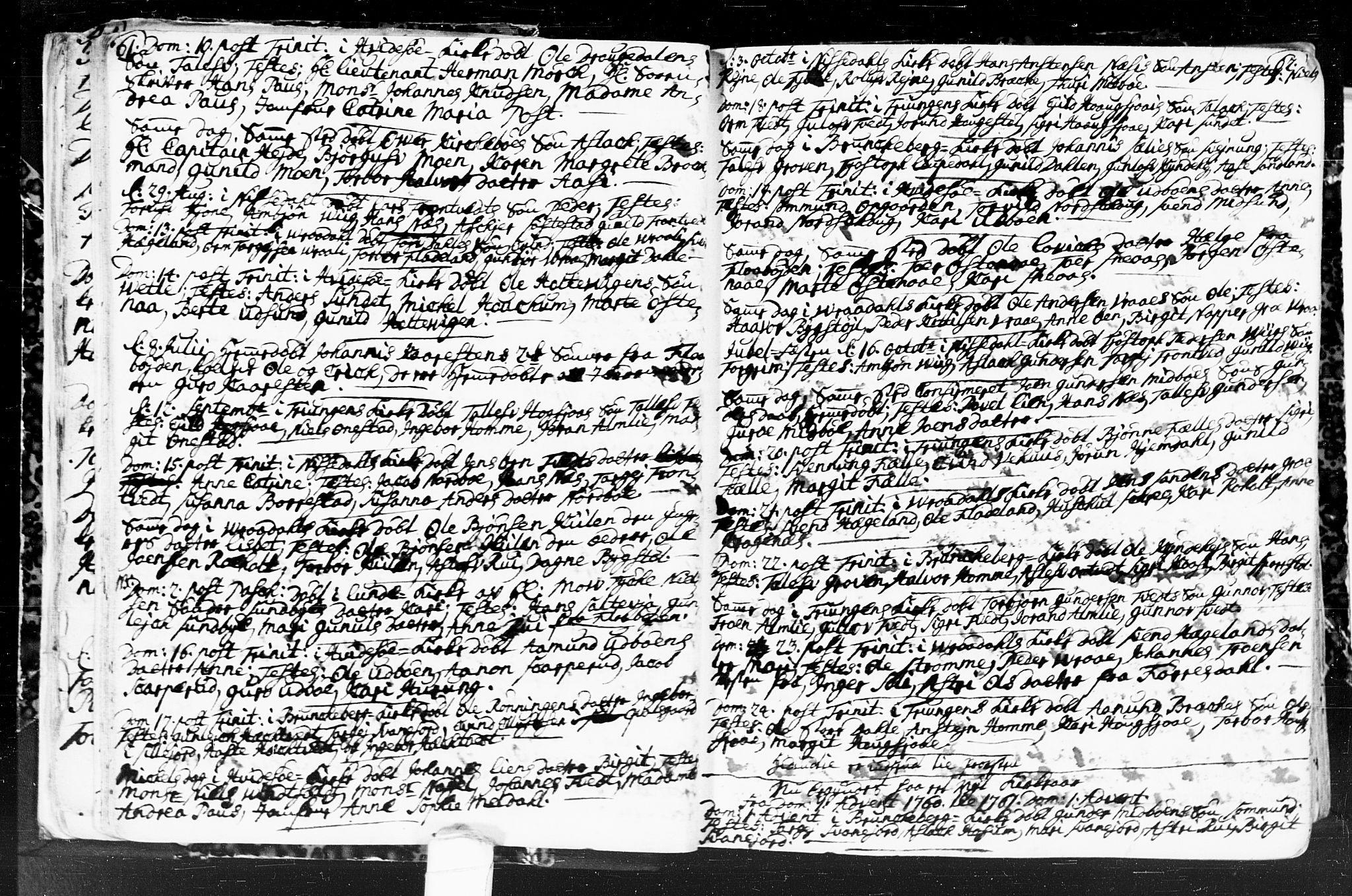 SAKO, Kviteseid kirkebøker, F/Fa/L0001: Ministerialbok nr. I 1, 1754-1773, s. 61-62