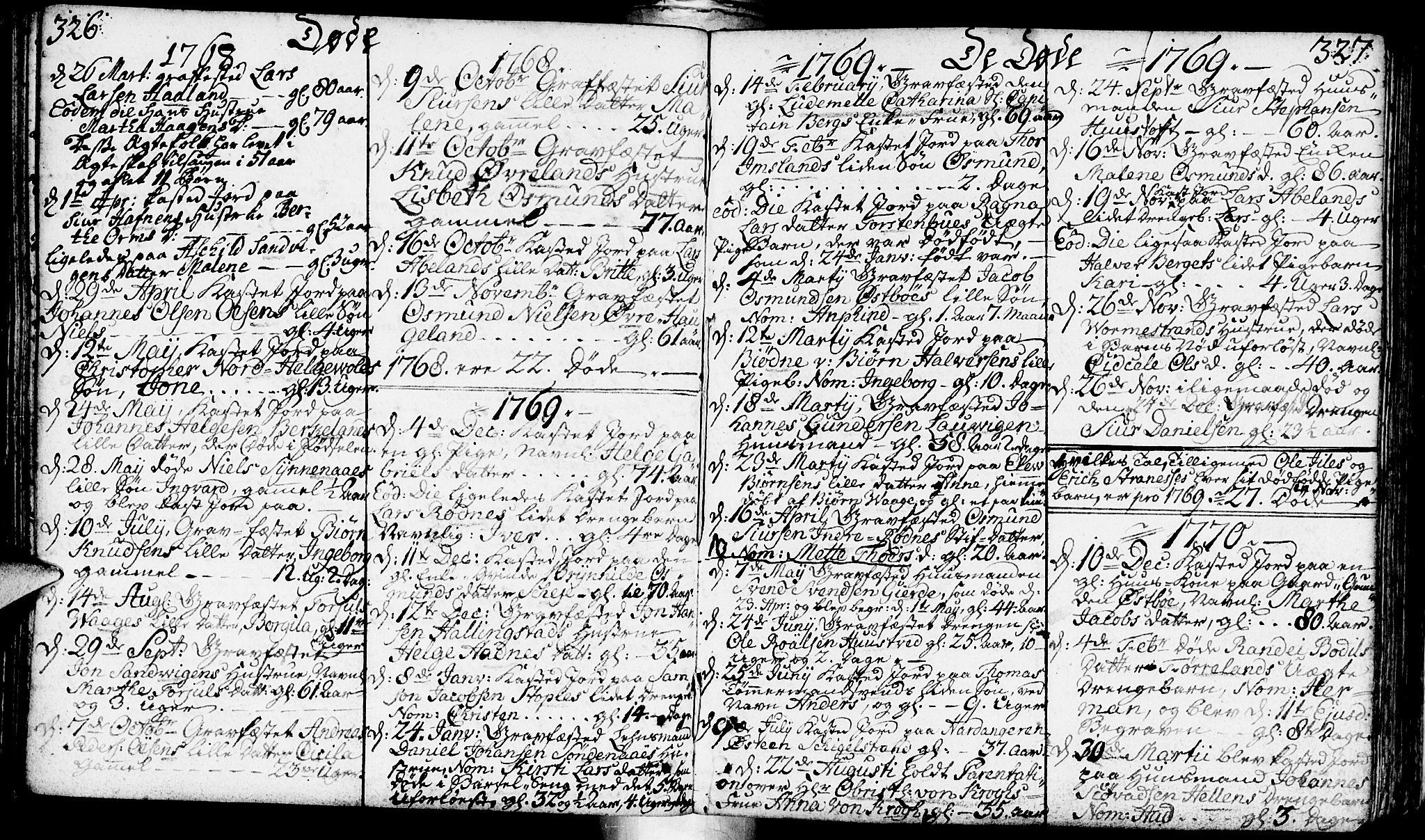 SAST, Vikedal sokneprestkontor, IV: Ministerialbok nr. A 1, 1737-1778, s. 326-327