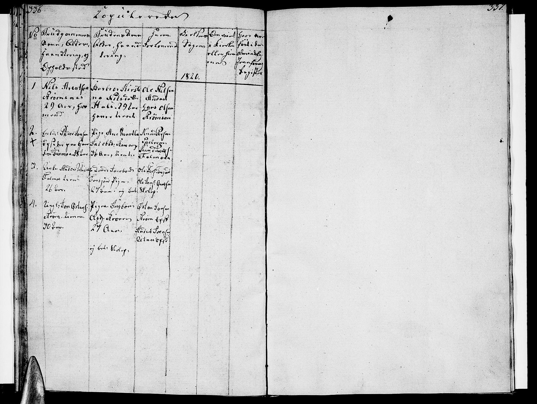 SAT, Ministerialprotokoller, klokkerbøker og fødselsregistre - Nordland, 820/L0287: Ministerialbok nr. 820A08, 1800-1819, s. 336-337