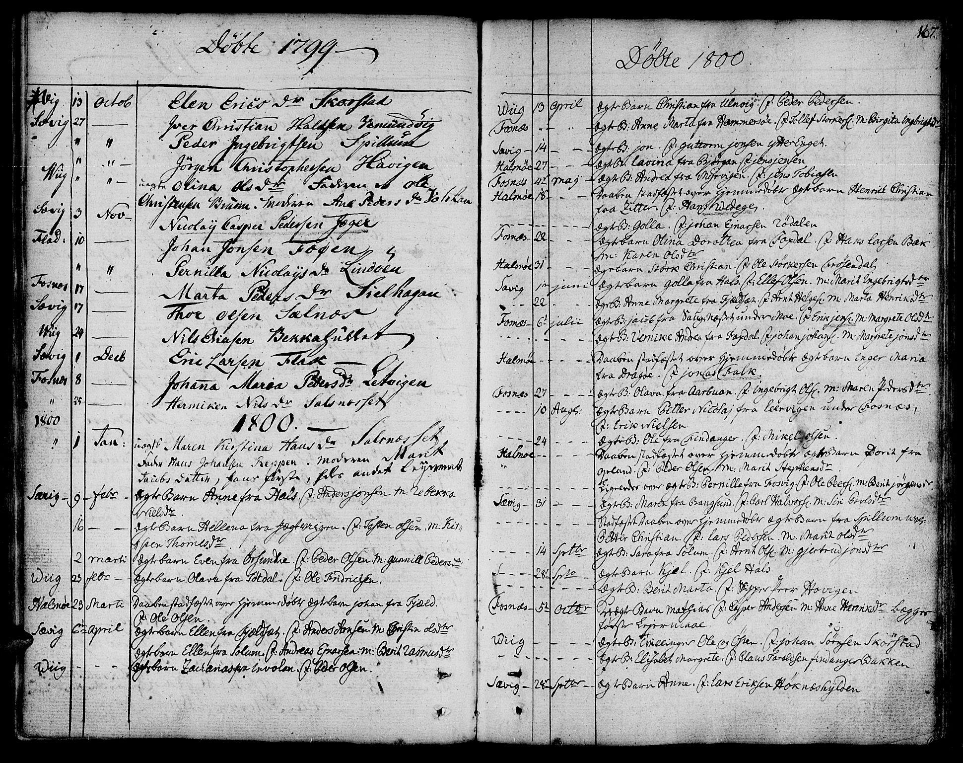 SAT, Ministerialprotokoller, klokkerbøker og fødselsregistre - Nord-Trøndelag, 773/L0608: Ministerialbok nr. 773A02, 1784-1816, s. 167