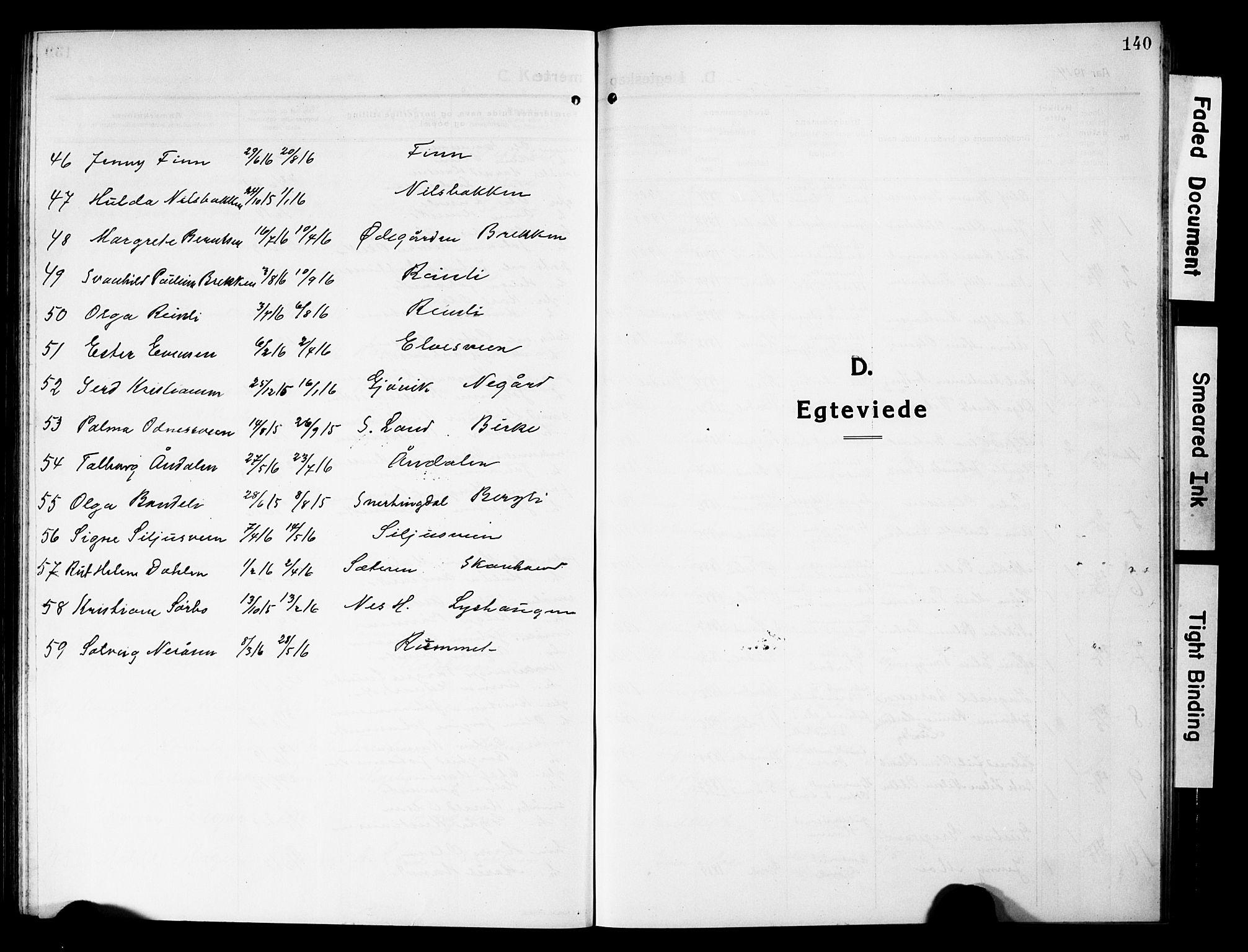 SAH, Vardal prestekontor, H/Ha/Hab/L0015: Klokkerbok nr. 15, 1914-1931, s. 140