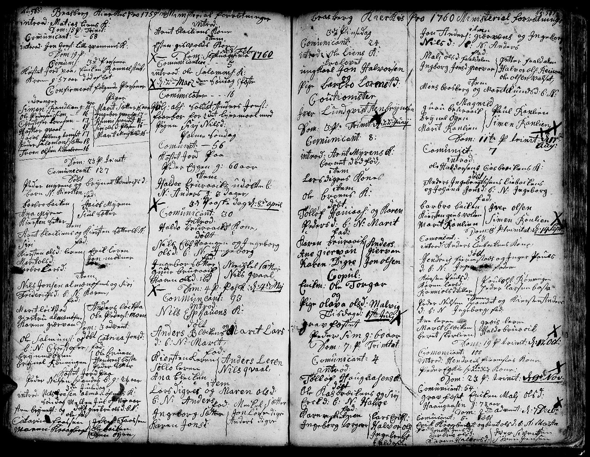 SAT, Ministerialprotokoller, klokkerbøker og fødselsregistre - Sør-Trøndelag, 606/L0278: Ministerialbok nr. 606A01 /4, 1727-1780, s. 566-567