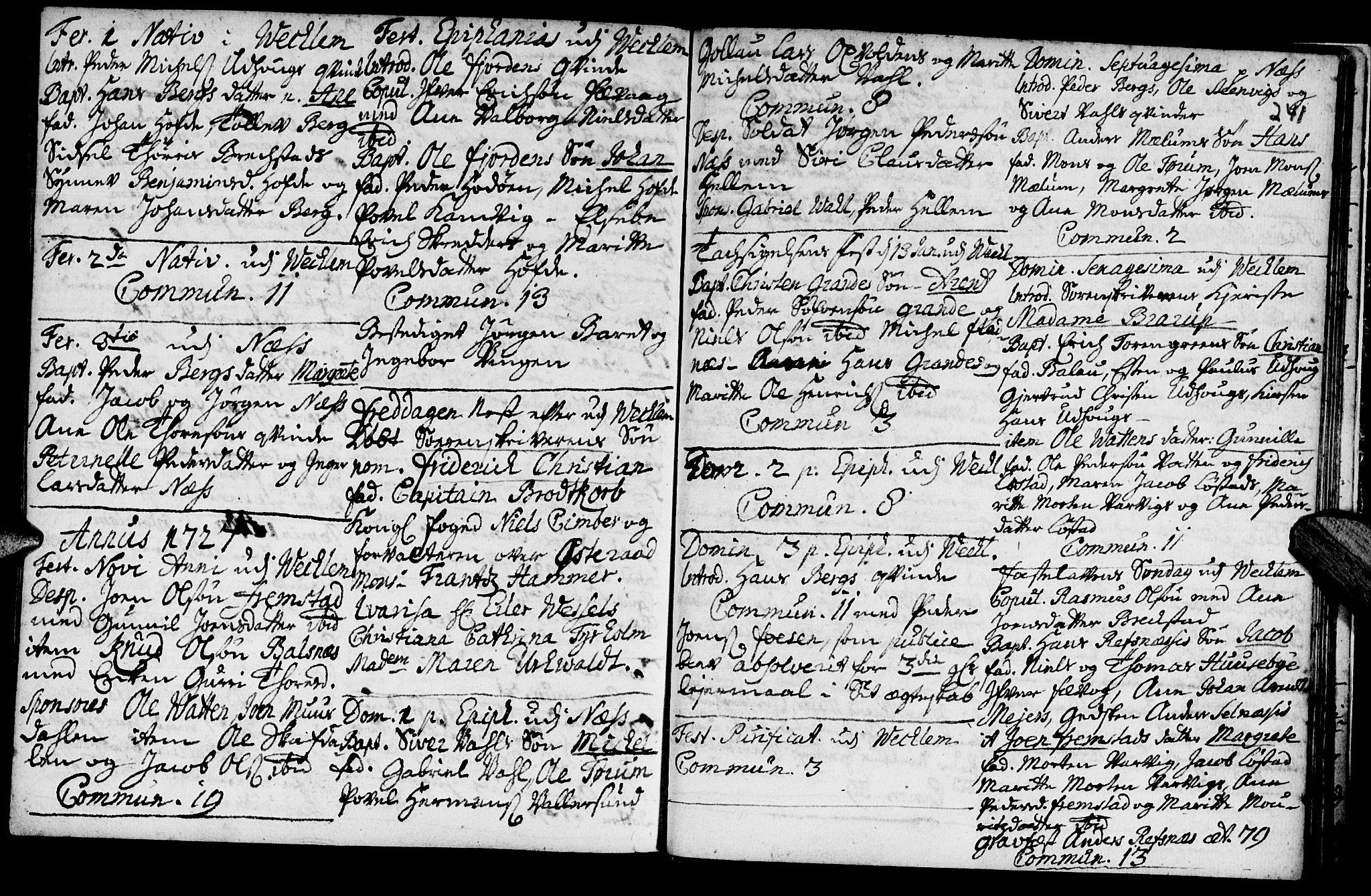 SAT, Ministerialprotokoller, klokkerbøker og fødselsregistre - Sør-Trøndelag, 659/L0731: Ministerialbok nr. 659A01, 1709-1731, s. 240-241