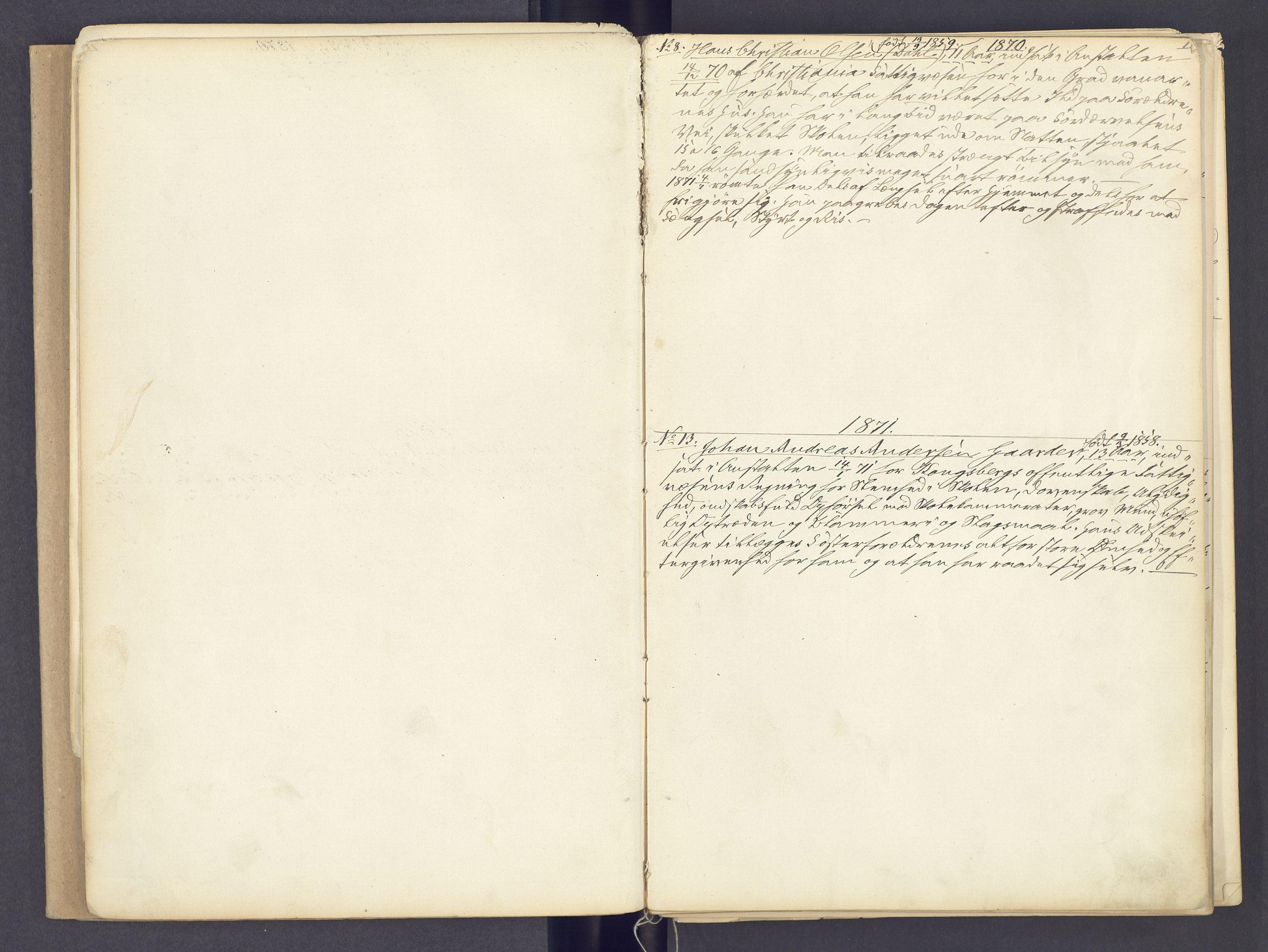SAH, Toftes Gave, F/Fc/L0002: Elevprotokoll, 1870-1885, s. 1