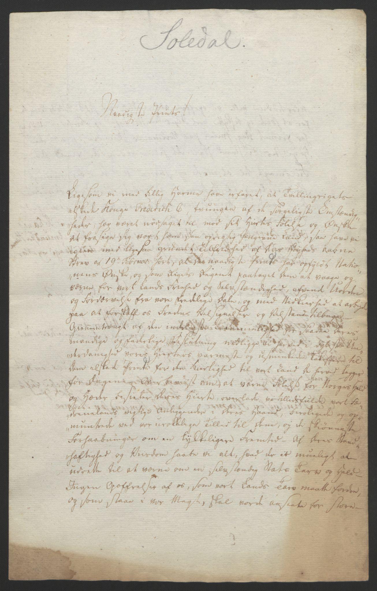 RA, Statsrådssekretariatet, D/Db/L0008: Fullmakter for Eidsvollsrepresentantene i 1814. , 1814, s. 256