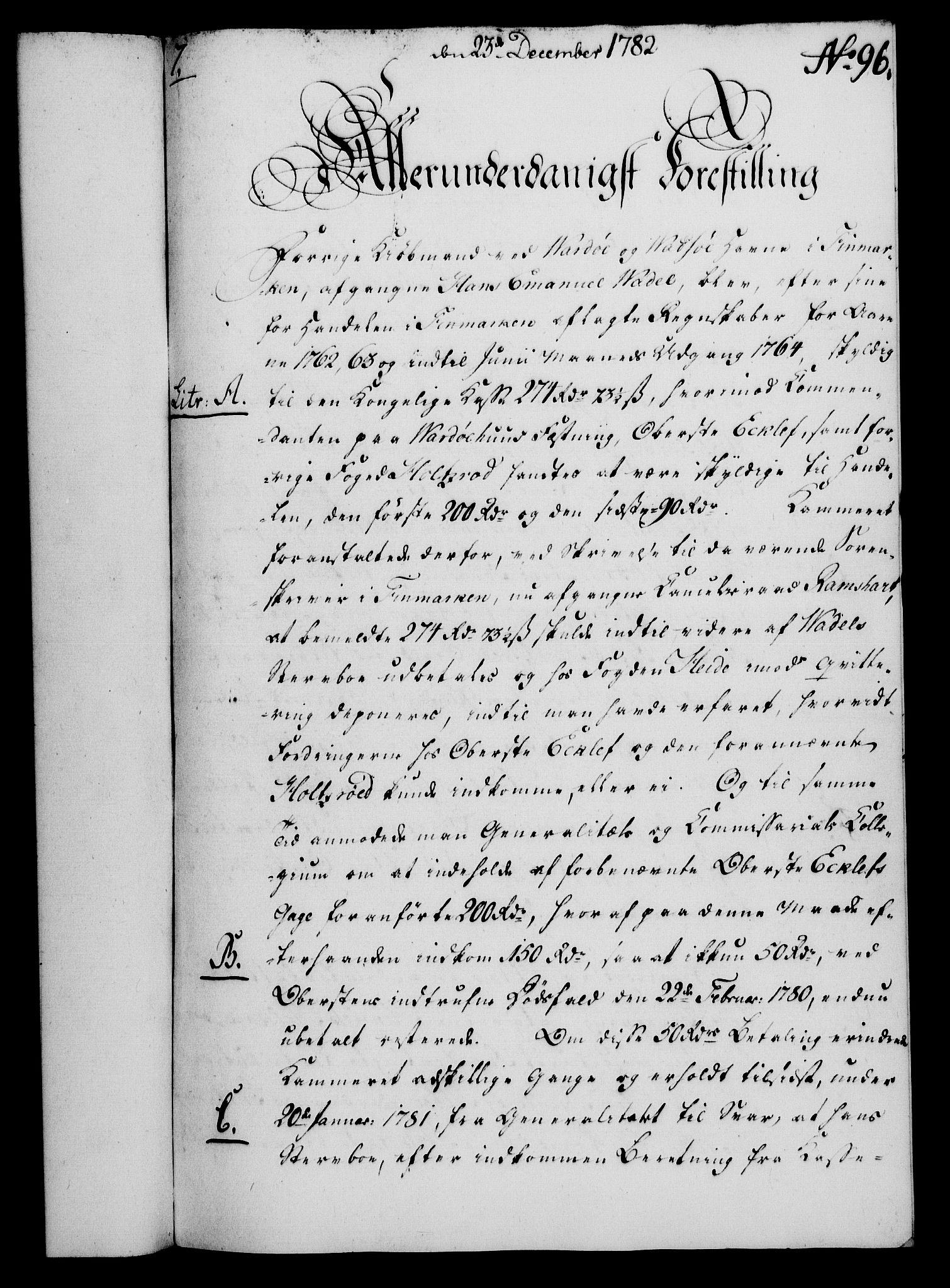 RA, Rentekammeret, Kammerkanselliet, G/Gf/Gfa/L0064: Norsk relasjons- og resolusjonsprotokoll (merket RK 52.64), 1782, s. 712