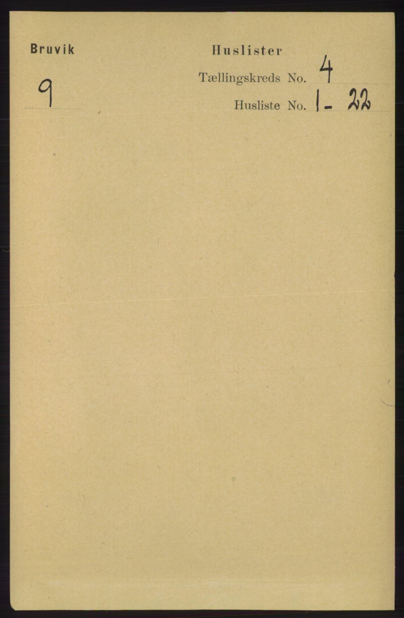 RA, Folketelling 1891 for 1251 Bruvik herred, 1891, s. 977
