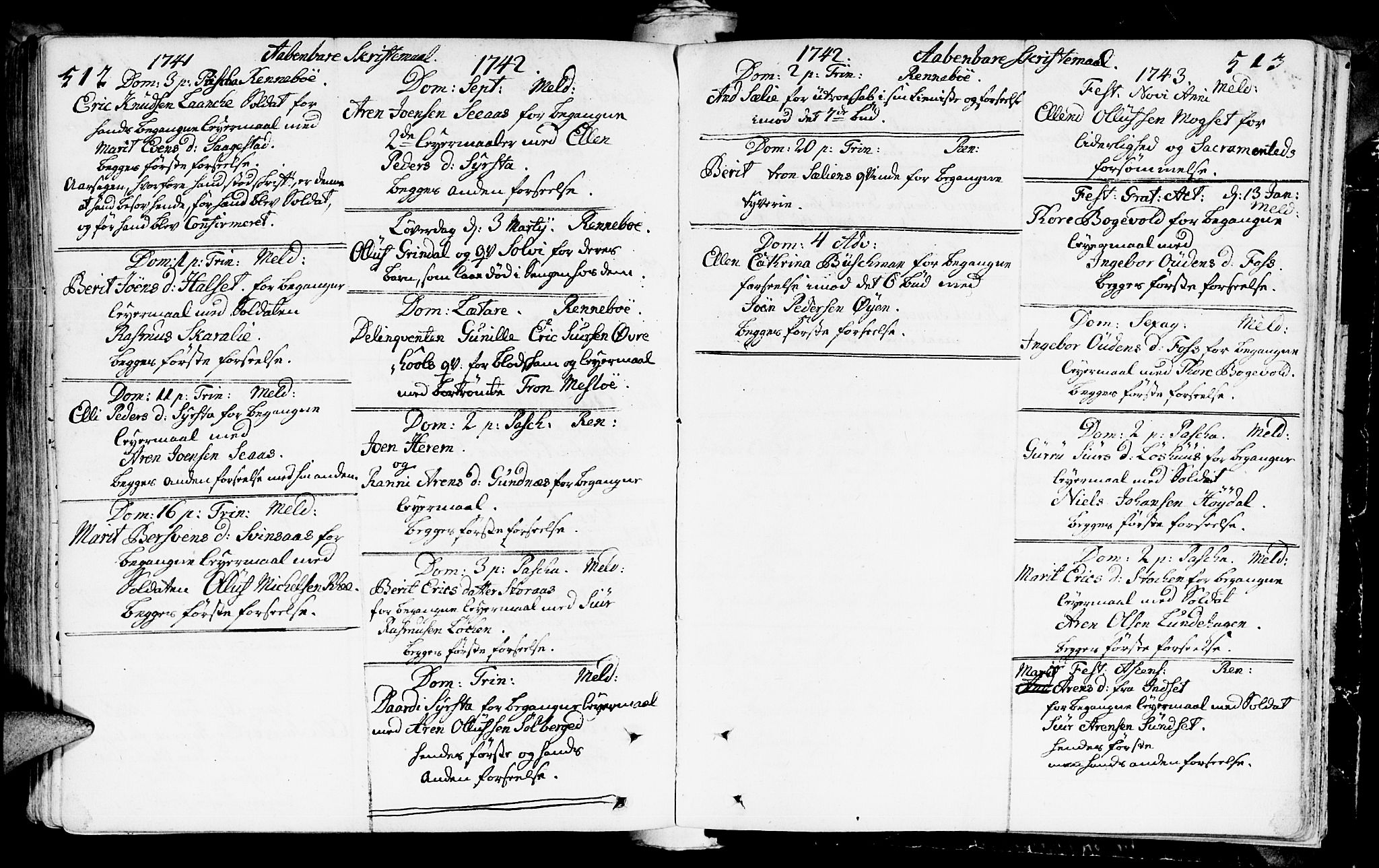 SAT, Ministerialprotokoller, klokkerbøker og fødselsregistre - Sør-Trøndelag, 672/L0850: Ministerialbok nr. 672A03, 1725-1751, s. 512-513