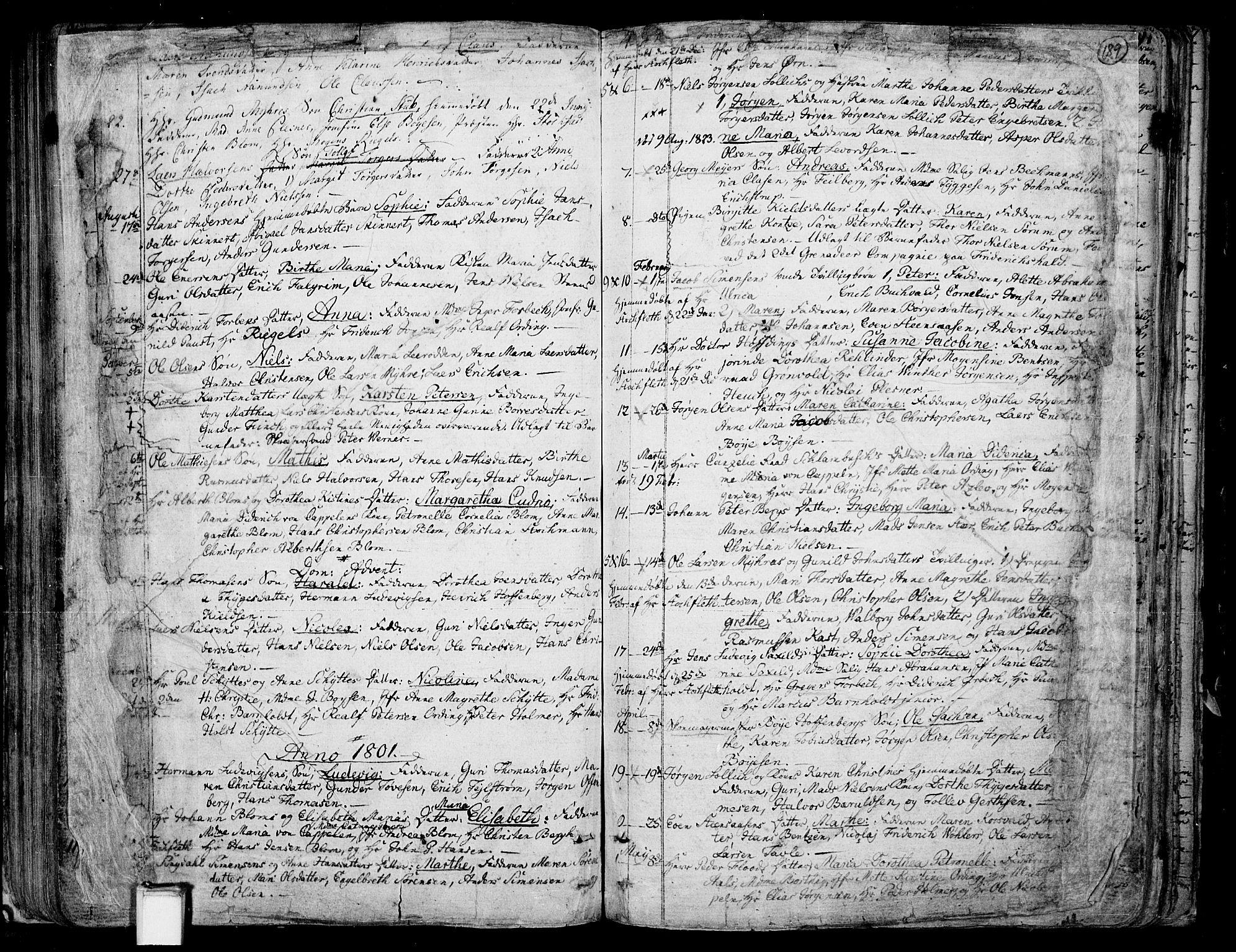 SAKO, Skien kirkebøker, F/Fa/L0004: Ministerialbok nr. 4, 1792-1814, s. 188-189