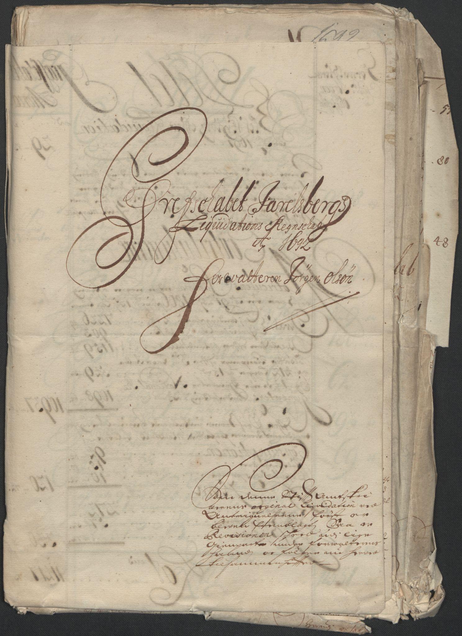 RA, Rentekammeret inntil 1814, Reviderte regnskaper, Fogderegnskap, R32/L1865: Fogderegnskap Jarlsberg grevskap, 1692, s. 13