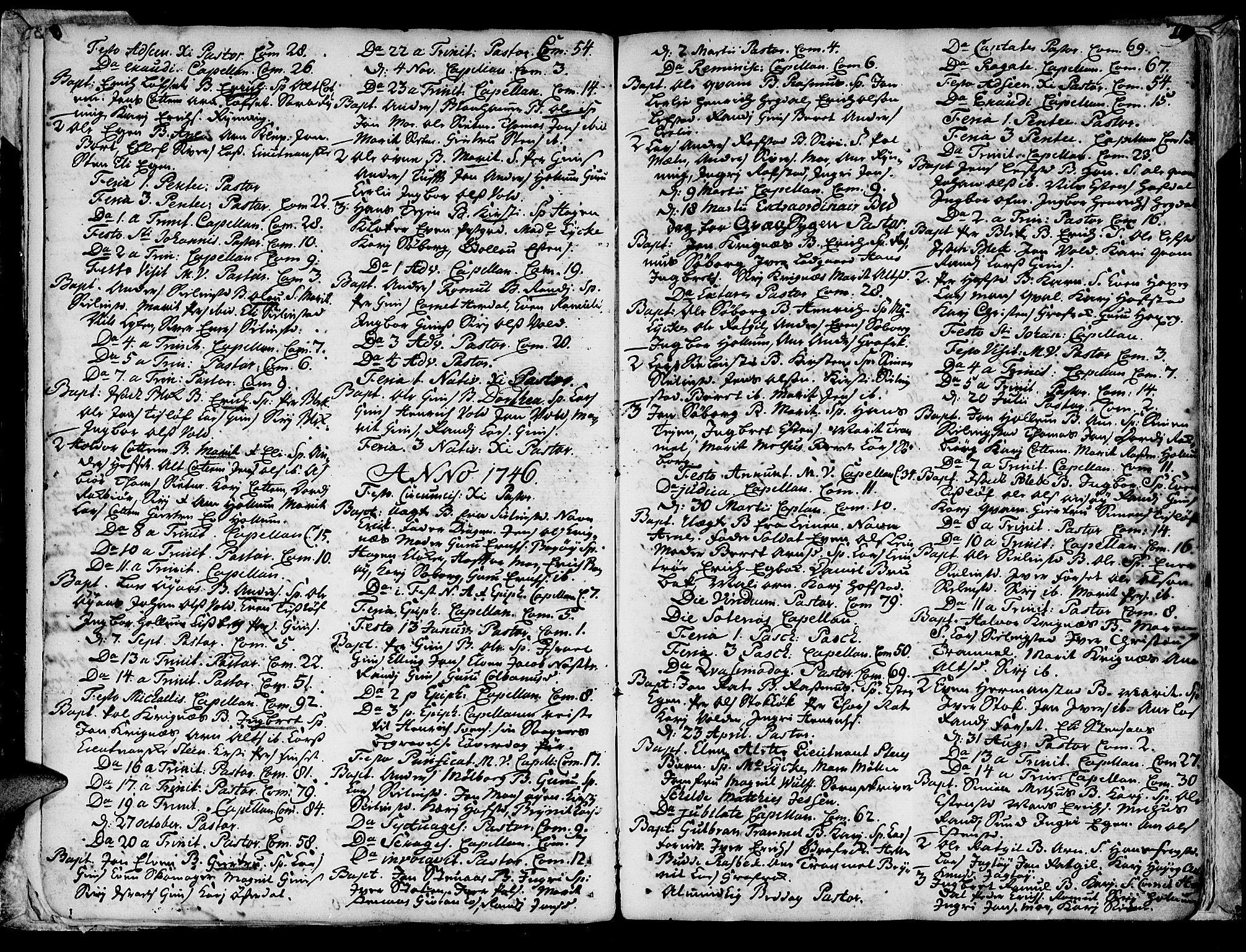 SAT, Ministerialprotokoller, klokkerbøker og fødselsregistre - Sør-Trøndelag, 691/L1057: Ministerialbok nr. 691A01 /1, 1740-1767, s. 20