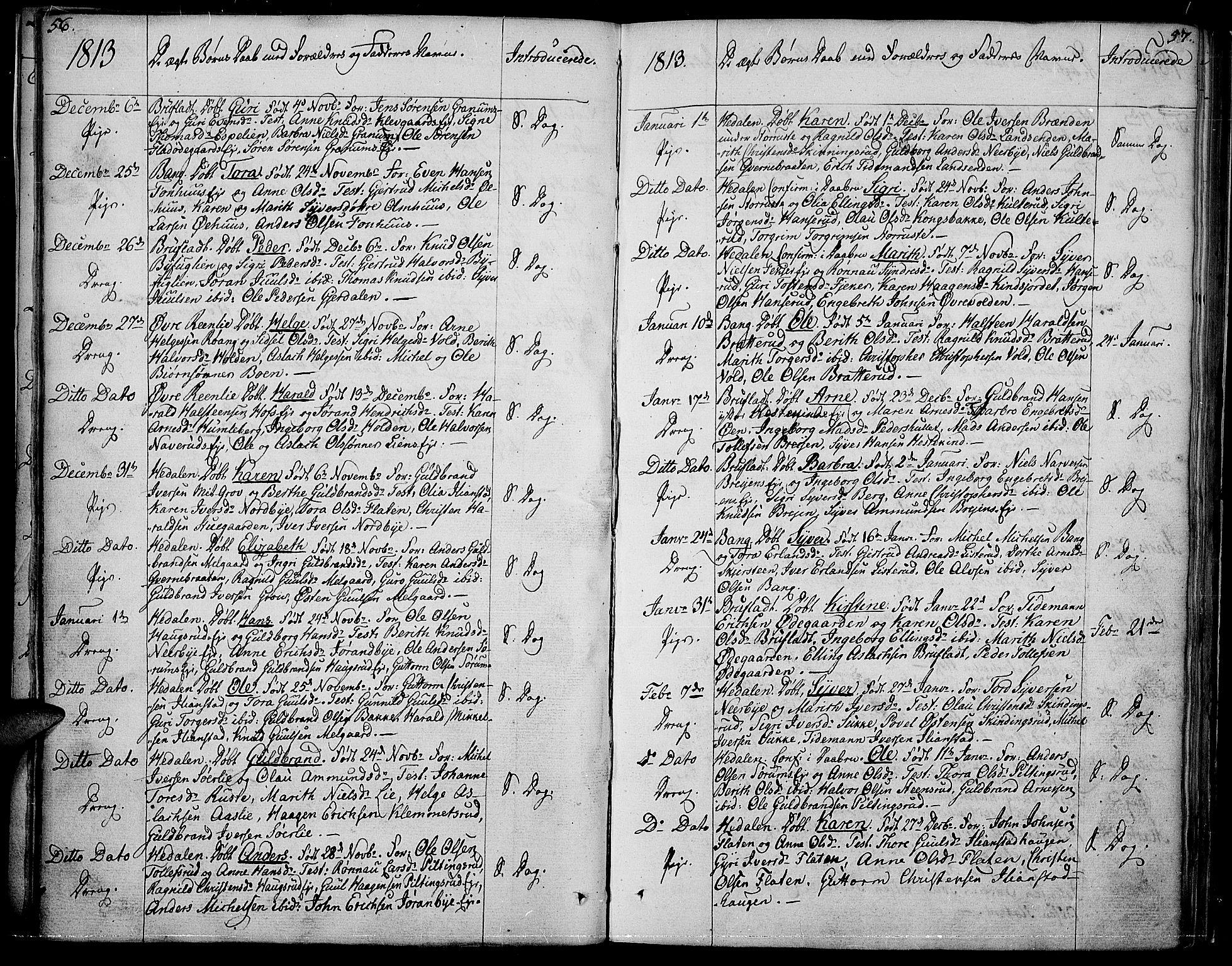 SAH, Sør-Aurdal prestekontor, Ministerialbok nr. 1, 1807-1815, s. 56-57