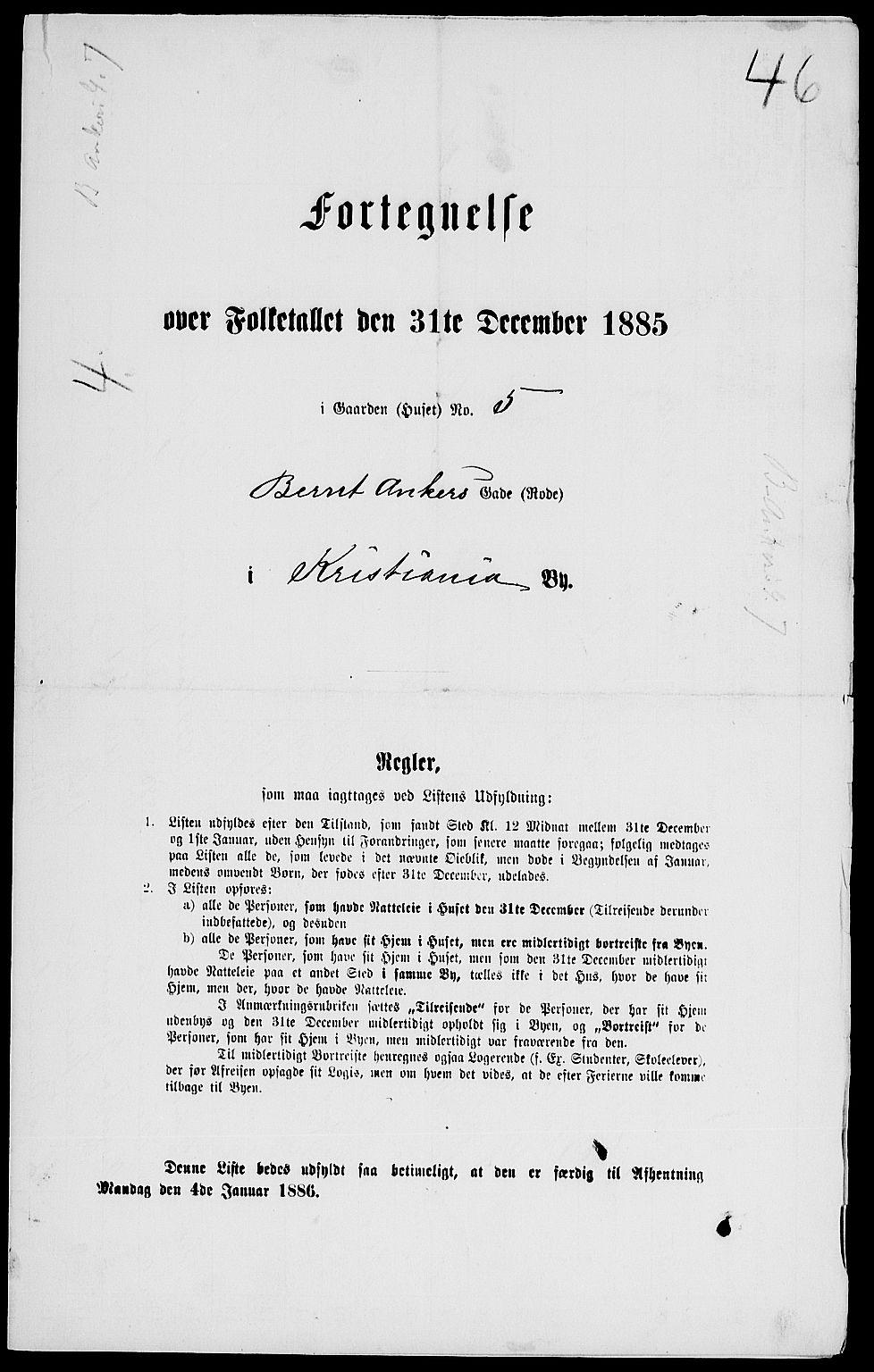 RA, Folketelling 1885 for 0301 Kristiania kjøpstad, 1885, s. 5723