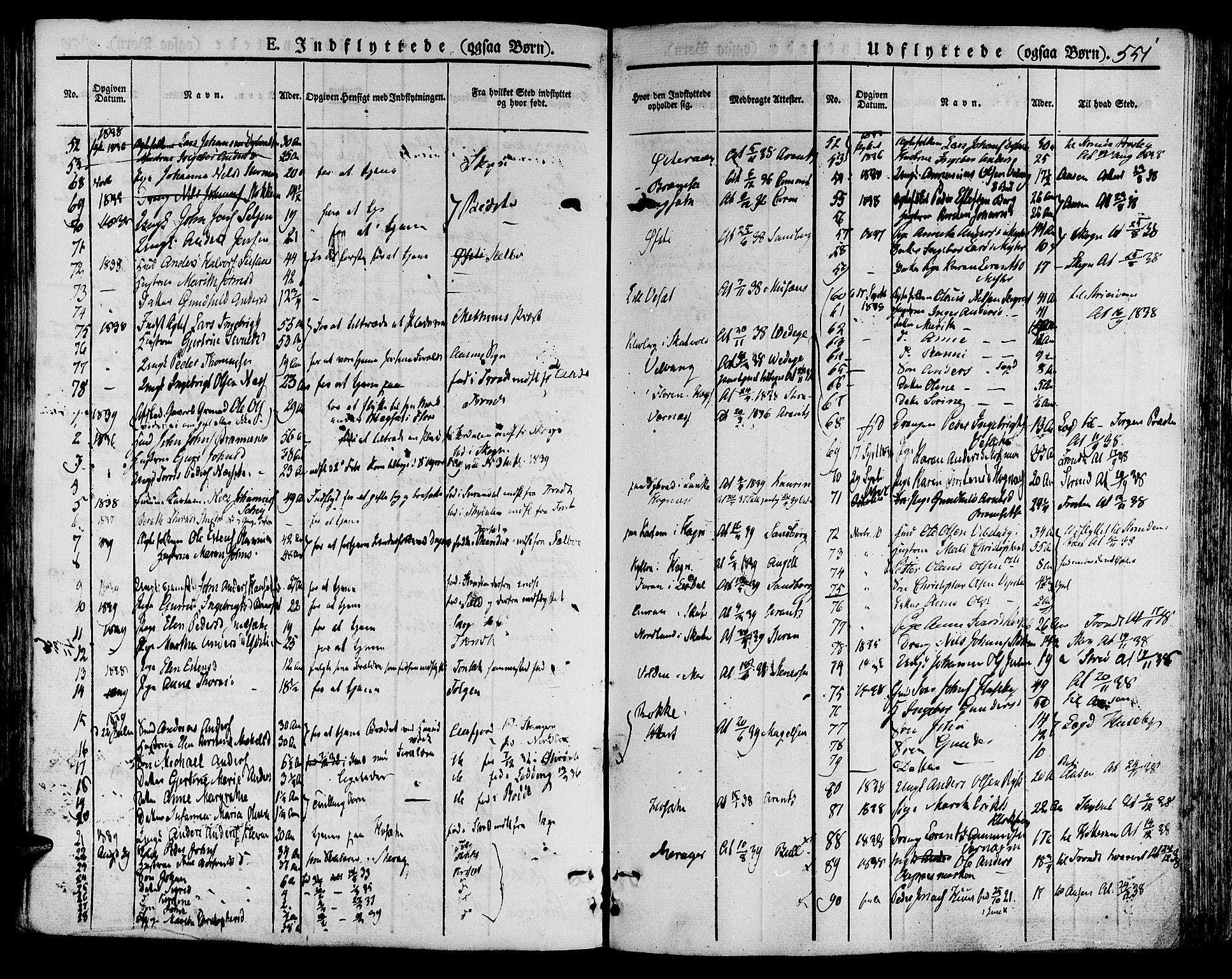 SAT, Ministerialprotokoller, klokkerbøker og fødselsregistre - Nord-Trøndelag, 709/L0072: Ministerialbok nr. 709A12, 1833-1844, s. 551