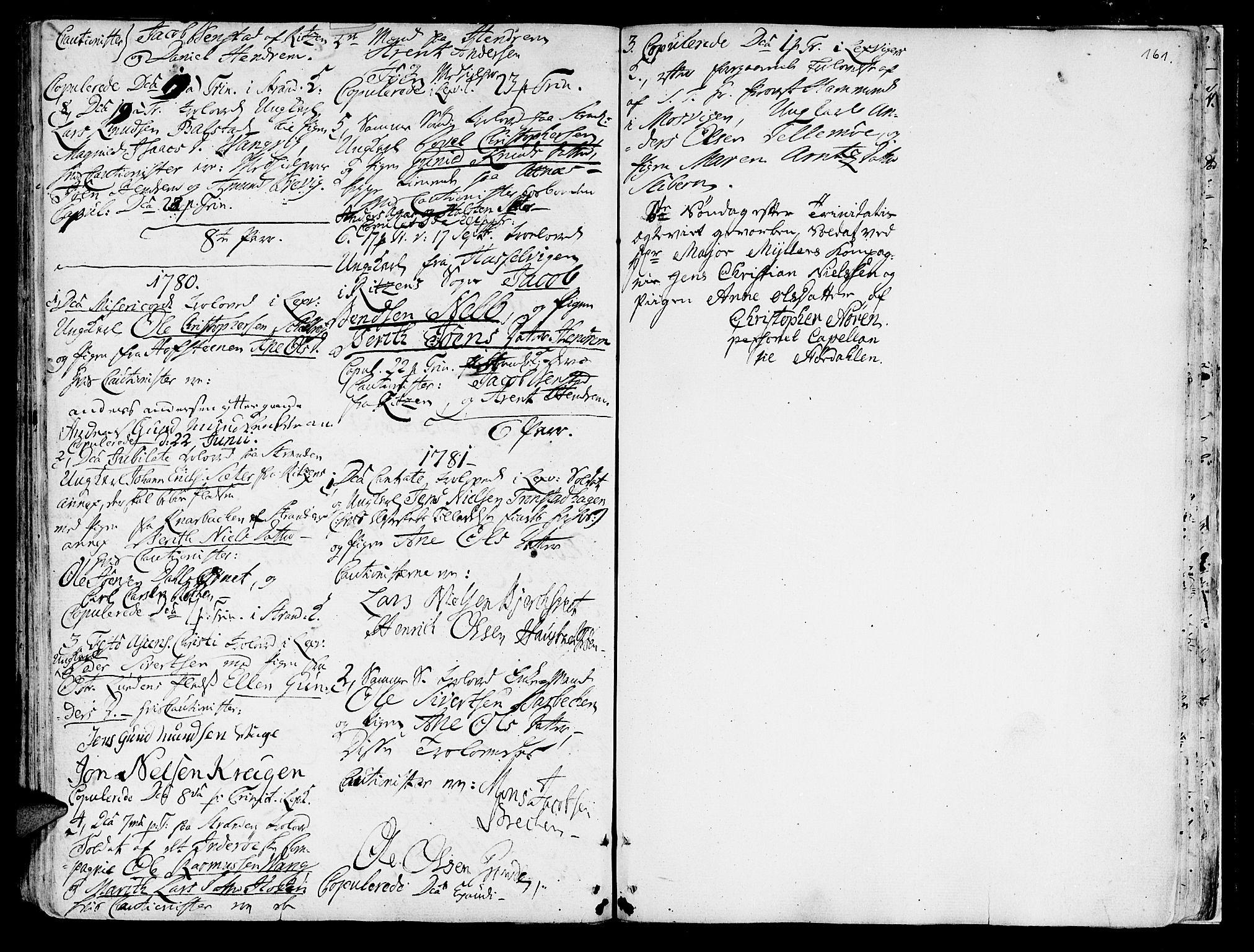 SAT, Ministerialprotokoller, klokkerbøker og fødselsregistre - Nord-Trøndelag, 701/L0003: Ministerialbok nr. 701A03, 1751-1783, s. 161