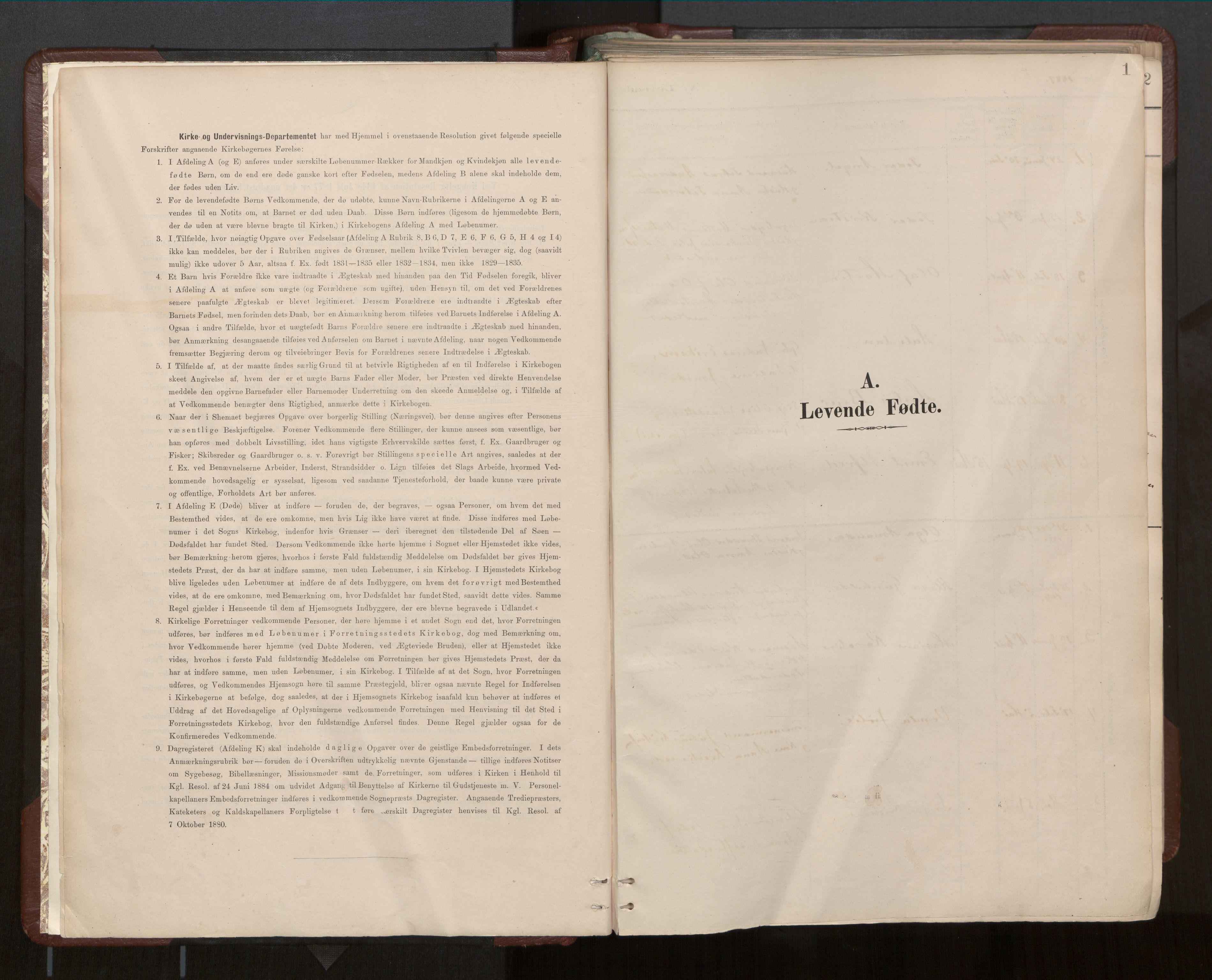 SAT, Ministerialprotokoller, klokkerbøker og fødselsregistre - Nord-Trøndelag, 770/L0589: Ministerialbok nr. 770A03, 1887-1929, s. 1