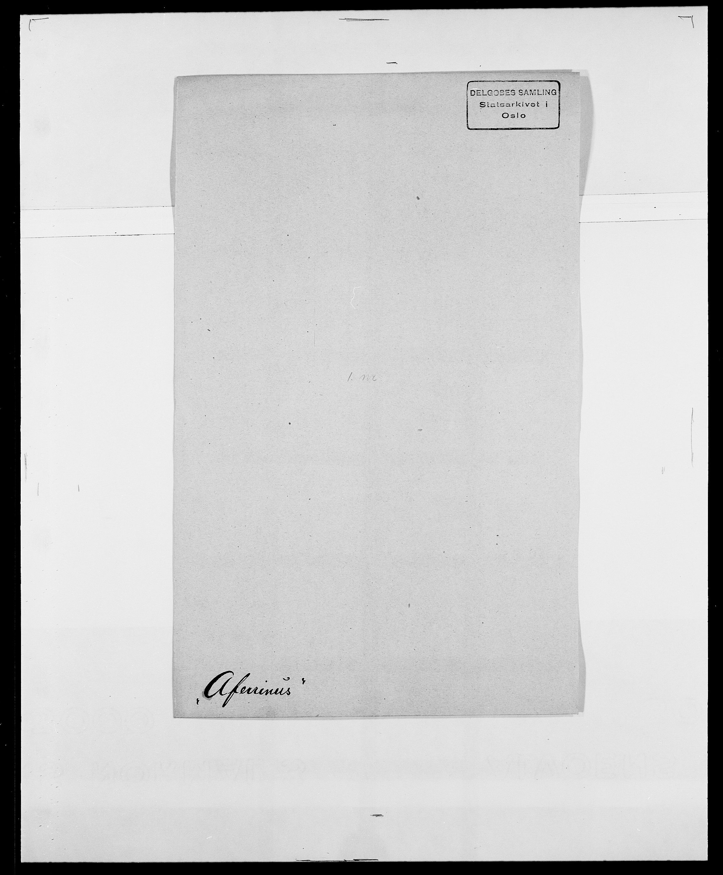 SAO, Delgobe, Charles Antoine - samling, D/Da/L0001: Aabye - Angerman, s. 281