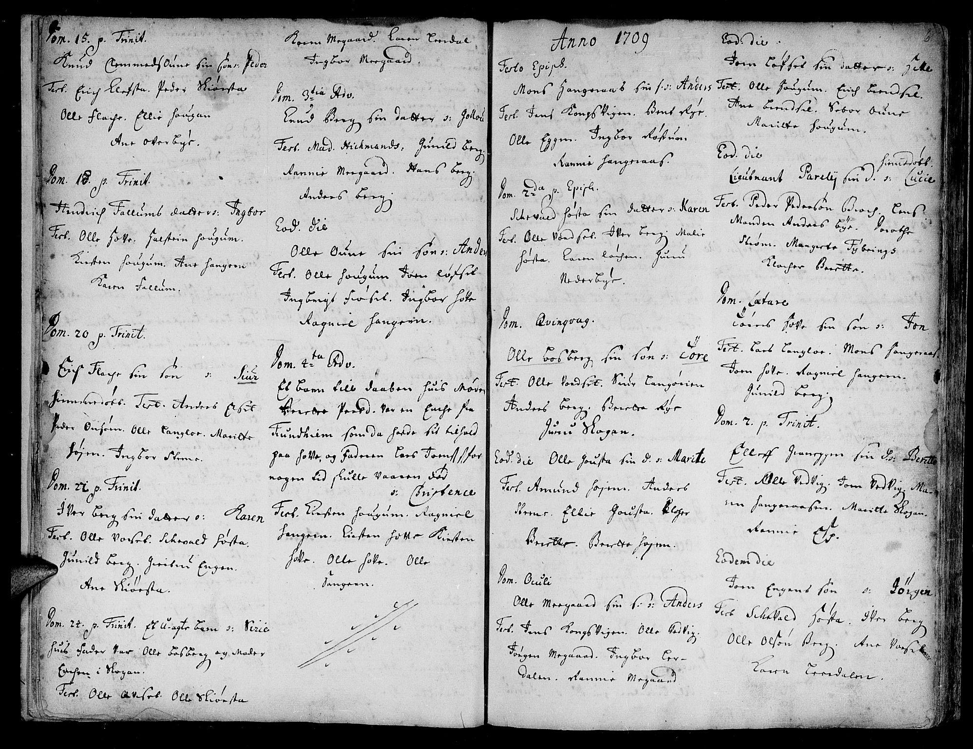 SAT, Ministerialprotokoller, klokkerbøker og fødselsregistre - Sør-Trøndelag, 612/L0368: Ministerialbok nr. 612A02, 1702-1753, s. 6