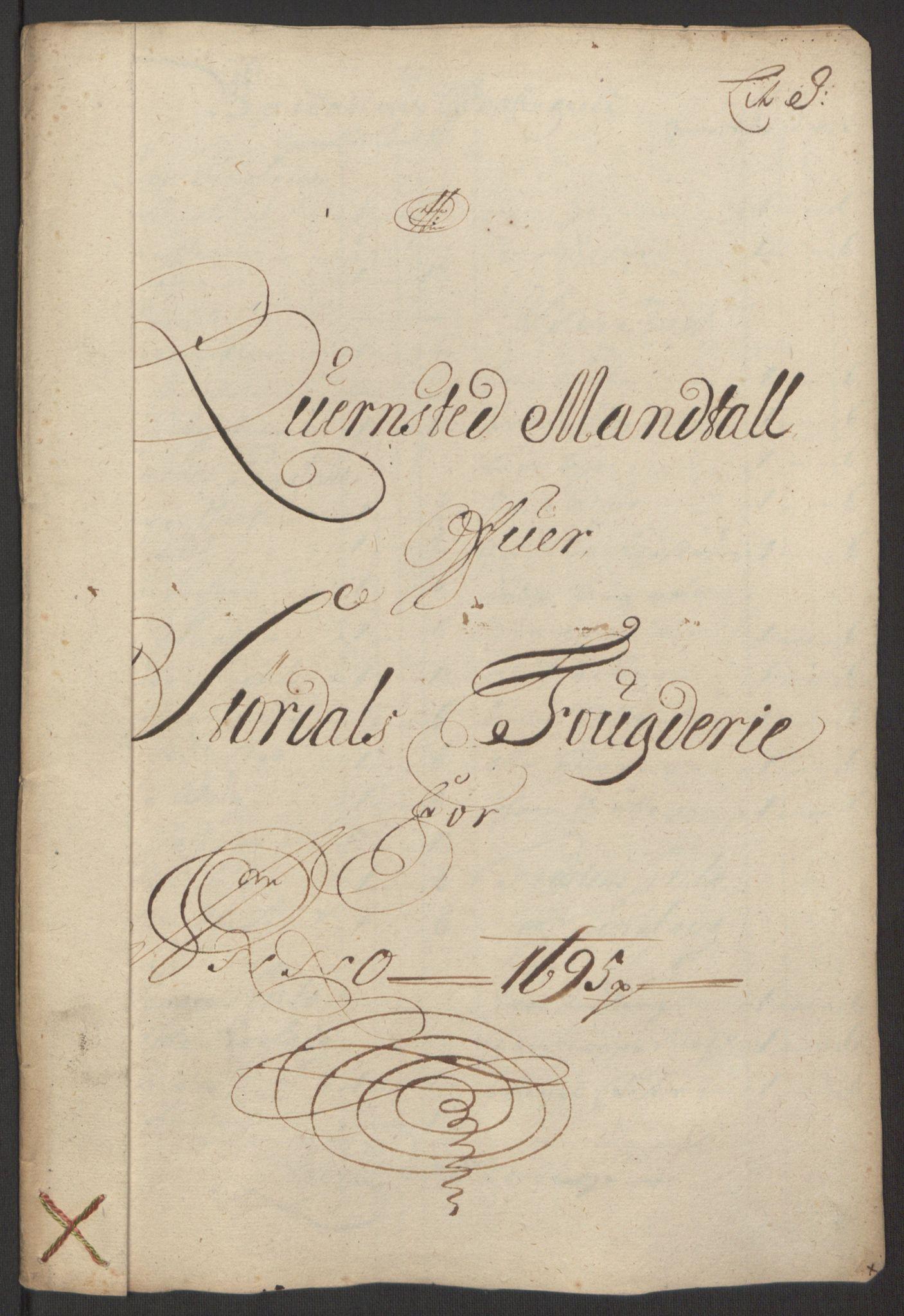 RA, Rentekammeret inntil 1814, Reviderte regnskaper, Fogderegnskap, R62/L4187: Fogderegnskap Stjørdal og Verdal, 1695, s. 125