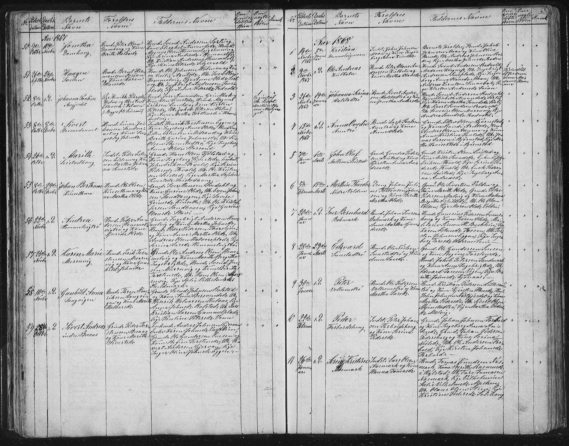 SAT, Ministerialprotokoller, klokkerbøker og fødselsregistre - Sør-Trøndelag, 616/L0406: Ministerialbok nr. 616A03, 1843-1879, s. 67
