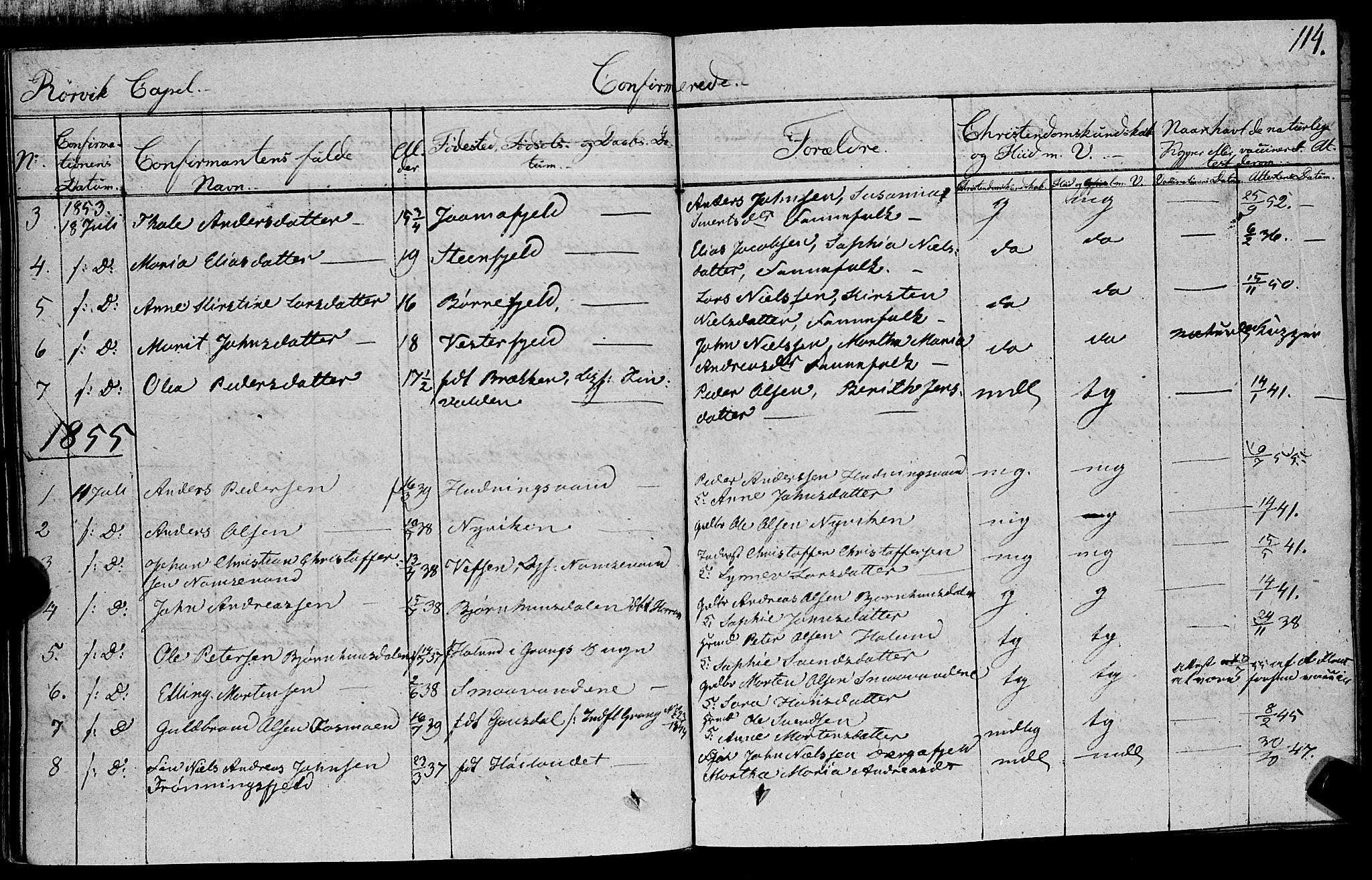SAT, Ministerialprotokoller, klokkerbøker og fødselsregistre - Nord-Trøndelag, 762/L0538: Ministerialbok nr. 762A02 /1, 1833-1879, s. 114