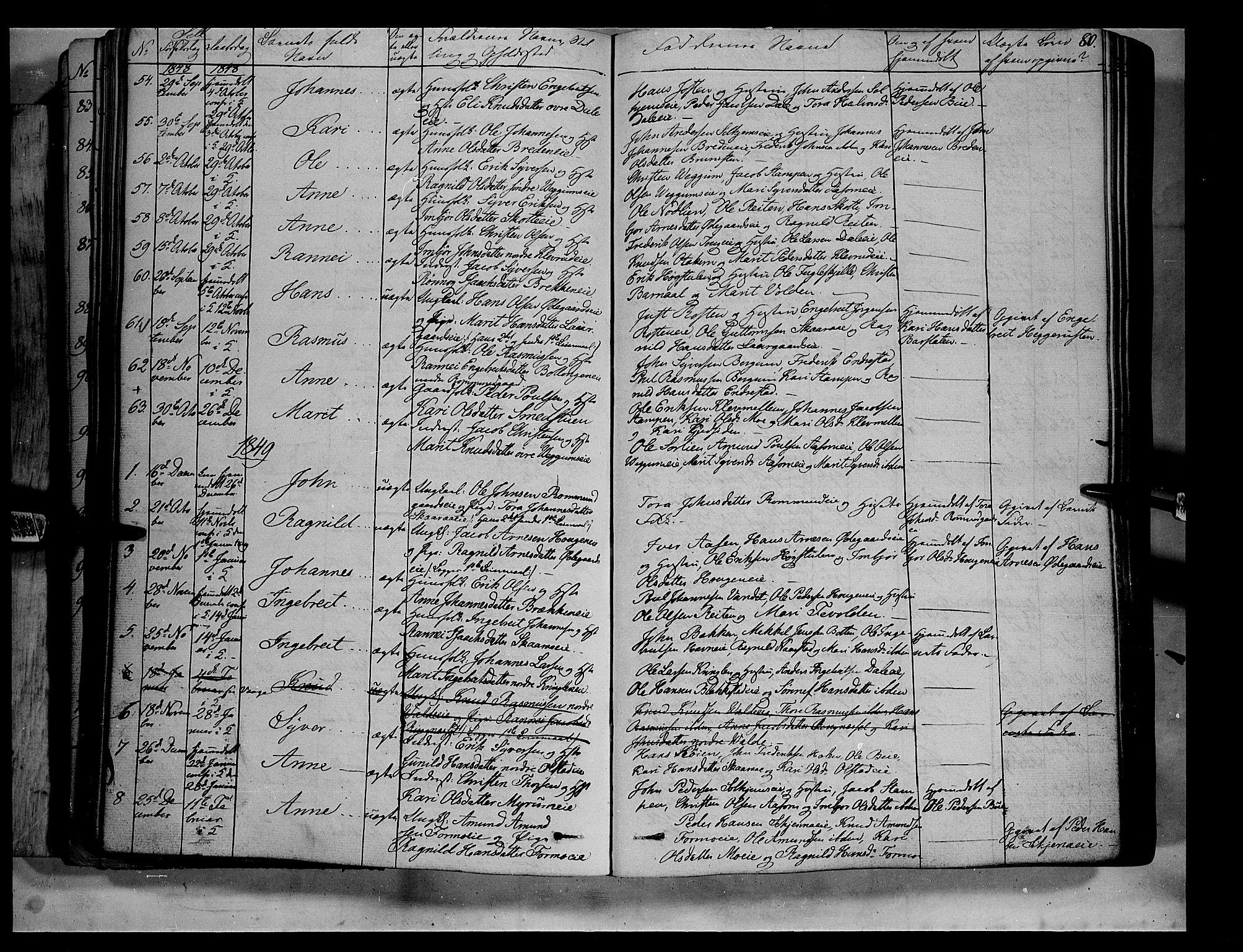 SAH, Vågå prestekontor, Ministerialbok nr. 5 /3, 1842-1856, s. 80